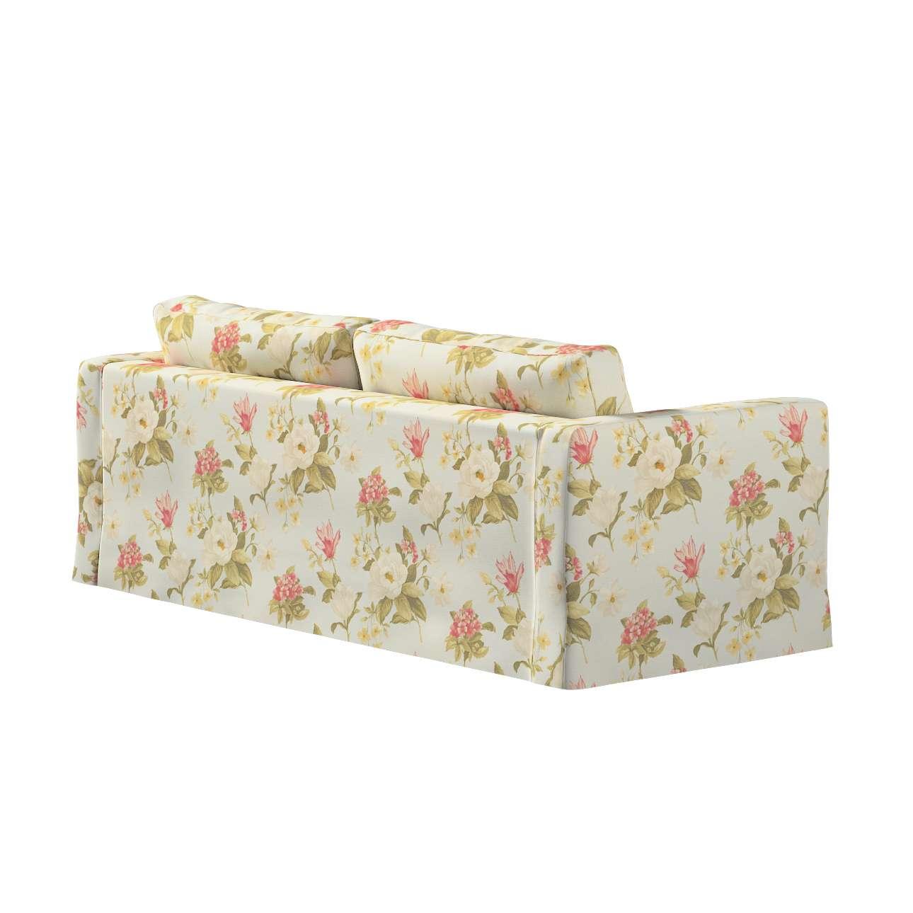 Pokrowiec na sofę Karlstad 3-osobową nierozkładaną, długi w kolekcji Londres, tkanina: 123-65