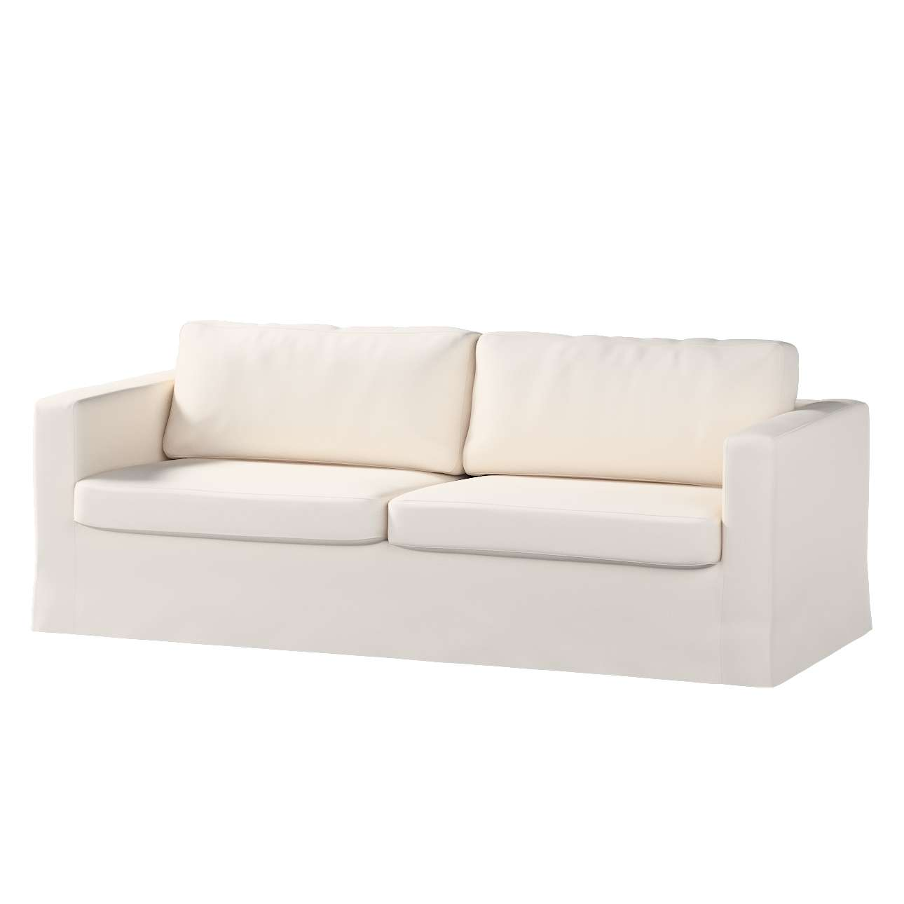 Pokrowiec na sofę Karlstad 3-osobową nierozkładaną, długi Sofa Karlstad 3-osobowa w kolekcji Etna , tkanina: 705-01