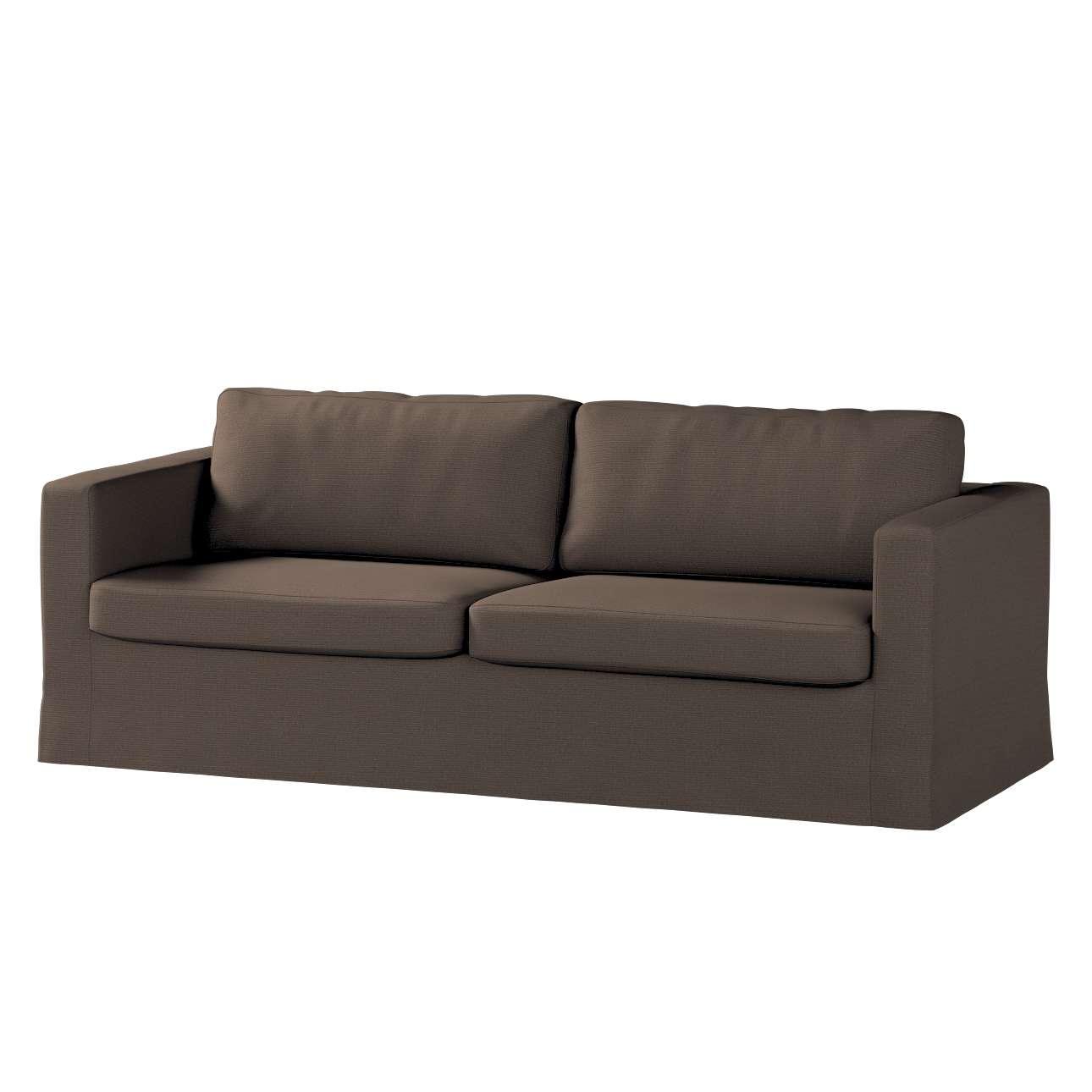 Pokrowiec na sofę Karlstad 3-osobową nierozkładaną, długi Sofa Karlstad 3-osobowa w kolekcji Etna , tkanina: 705-08