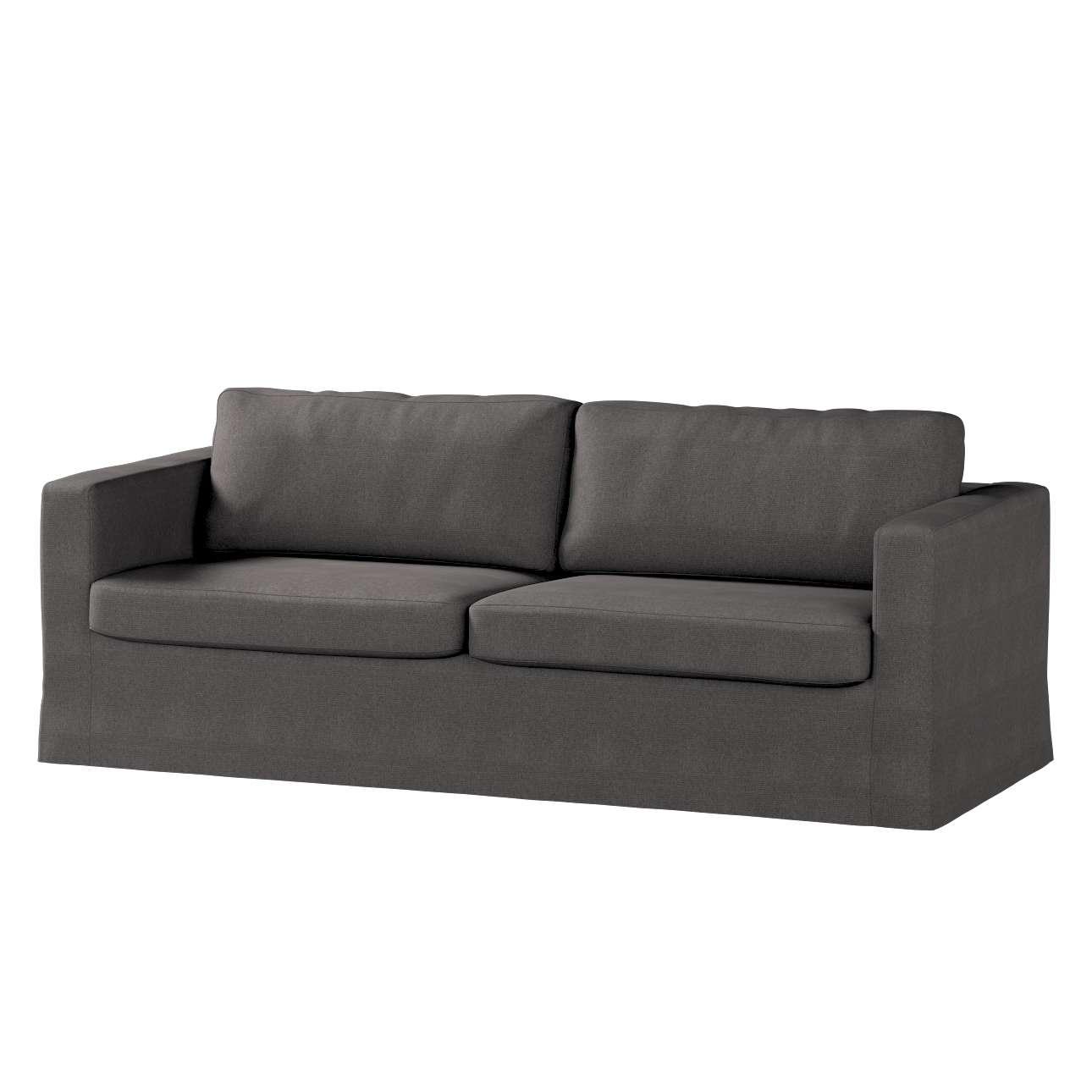 Pokrowiec na sofę Karlstad 3-osobową nierozkładaną, długi w kolekcji Etna, tkanina: 705-35