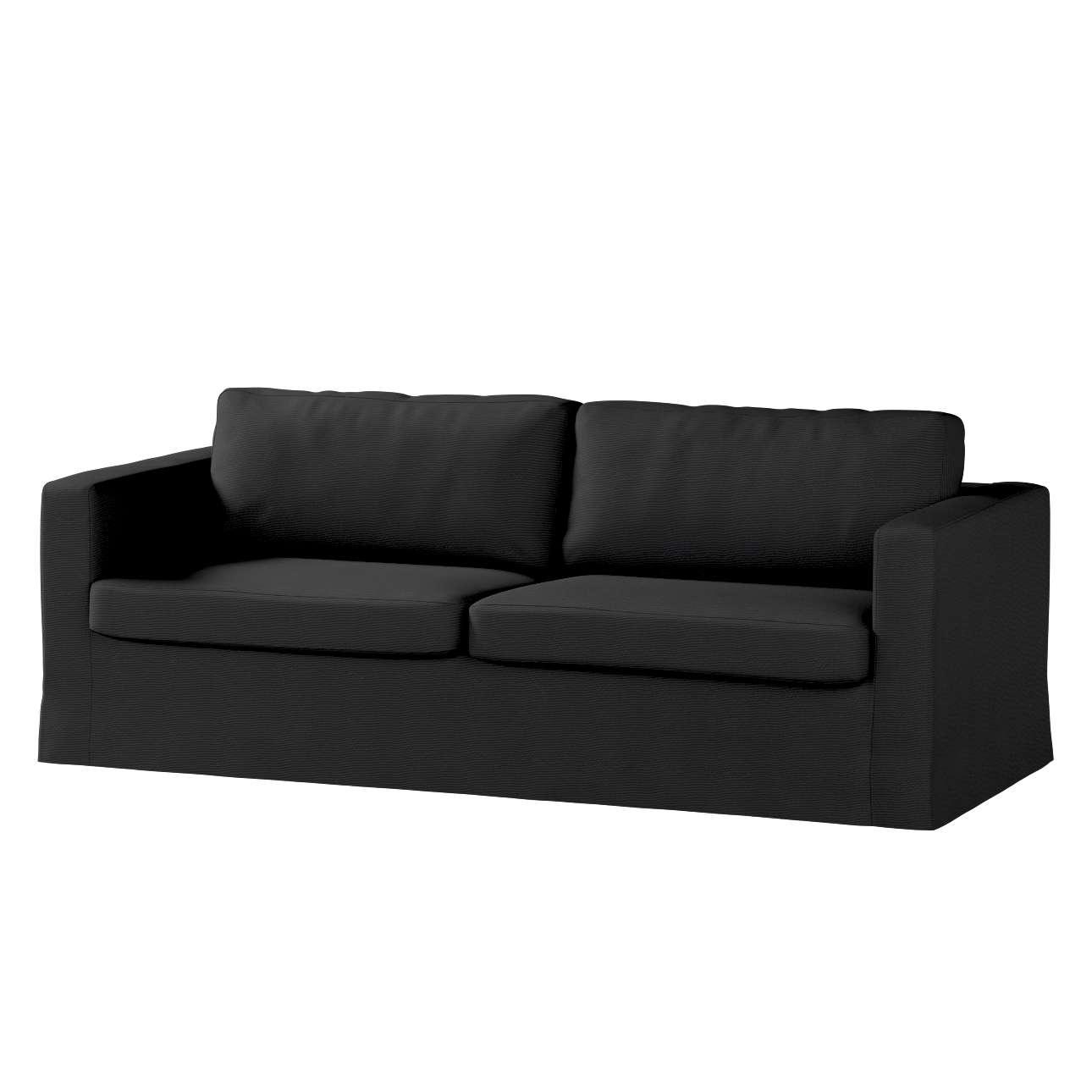 Karlstad 3-Sitzer Sofabezug nicht ausklappbar lang Sofahusse, Karlstad 3-Sitzer von der Kollektion Etna, Stoff: 705-00