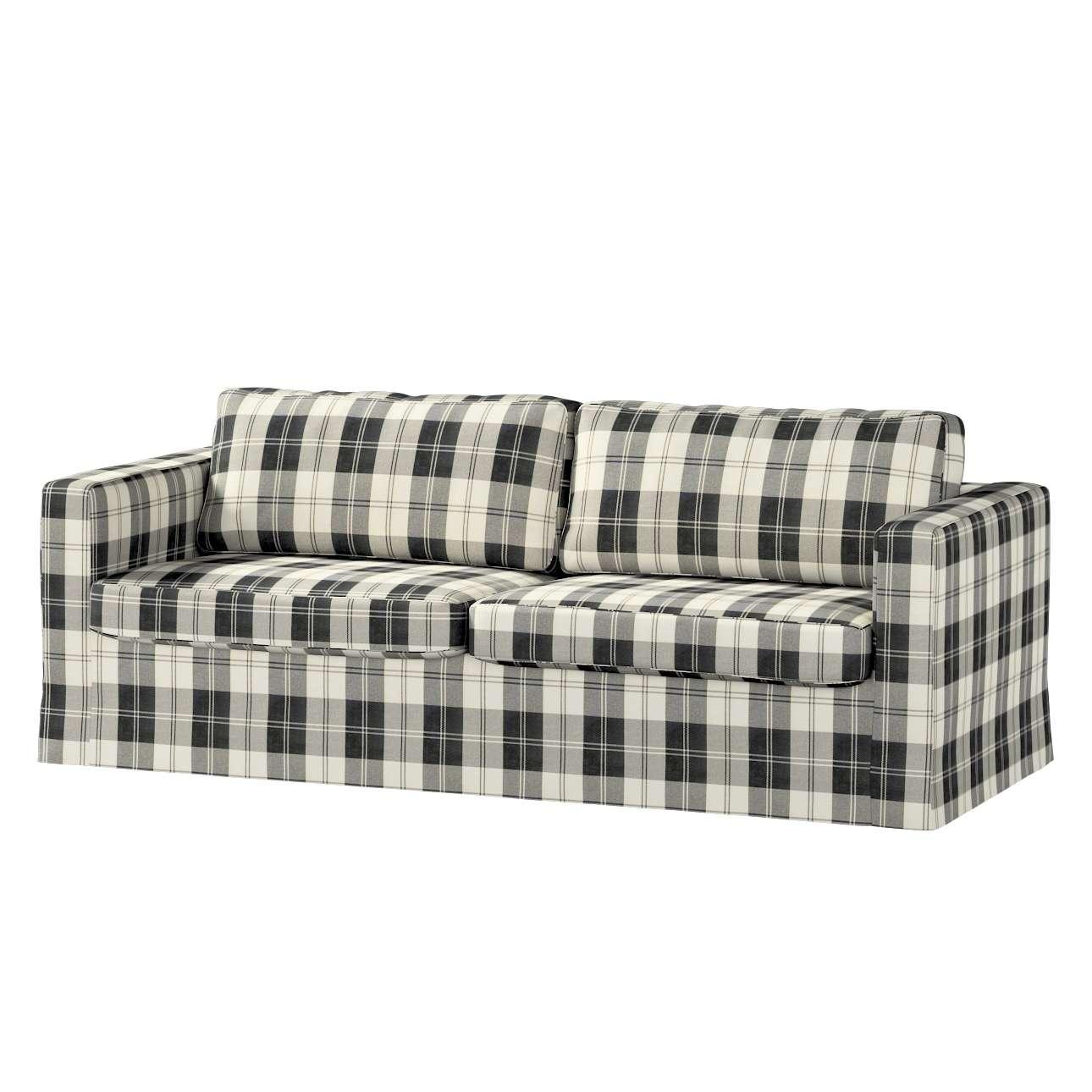 Pokrowiec na sofę Karlstad 3-osobową nierozkładaną, długi Sofa Karlstad 3-osobowa w kolekcji Edinburgh, tkanina: 115-74