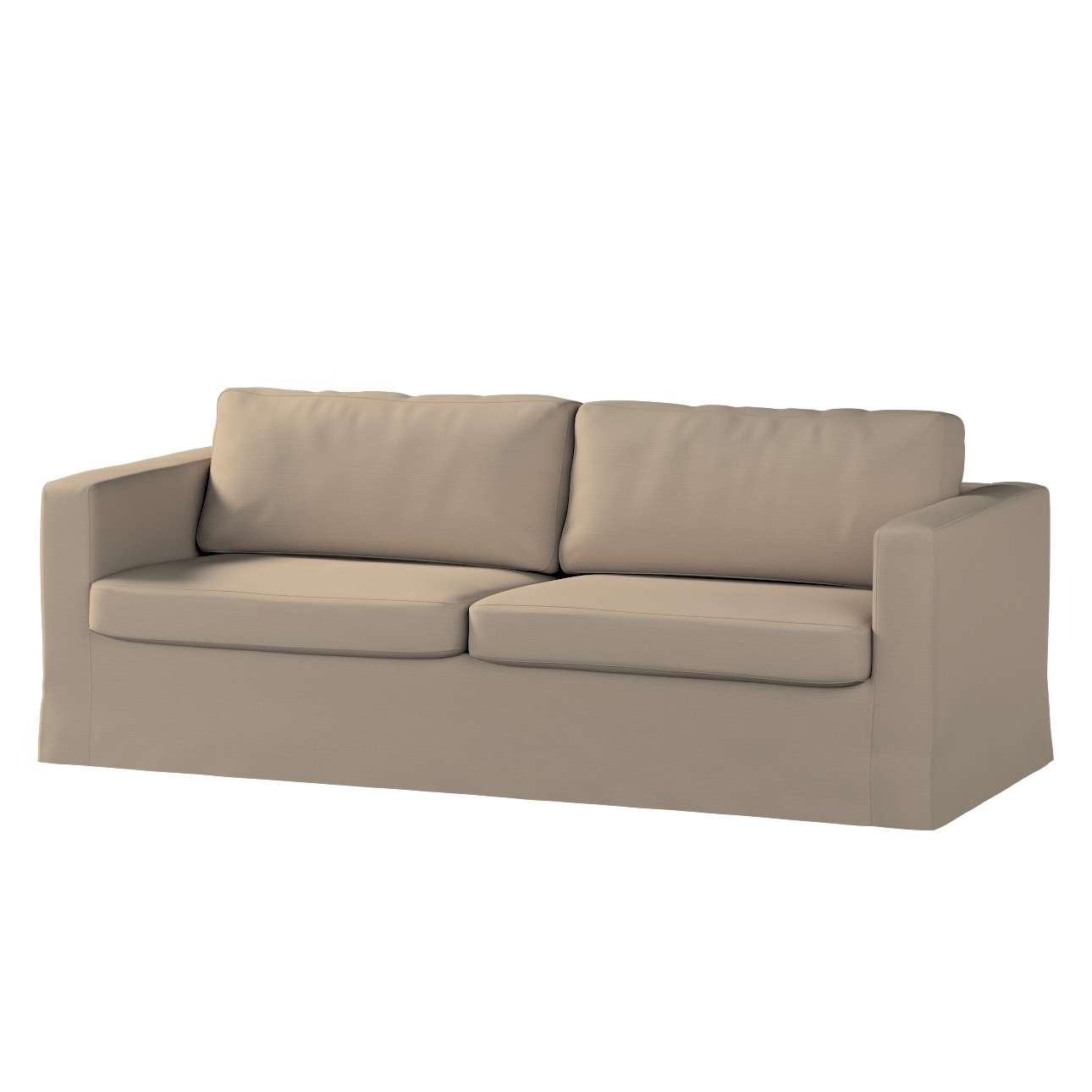 Pokrowiec na sofę Karlstad 3-osobową nierozkładaną, długi Sofa Karlstad 3-osobowa w kolekcji Cotton Panama, tkanina: 702-28