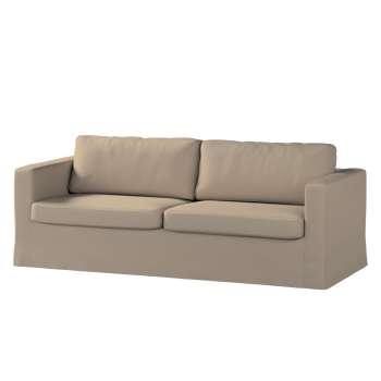 Karlstad 3-Sitzer Sofabezug nicht ausklappbar lang von der Kollektion Cotton Panama, Stoff: 702-28