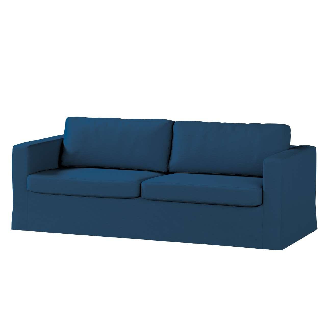 Pokrowiec na sofę Karlstad 3-osobową nierozkładaną, długi w kolekcji Cotton Panama, tkanina: 702-30