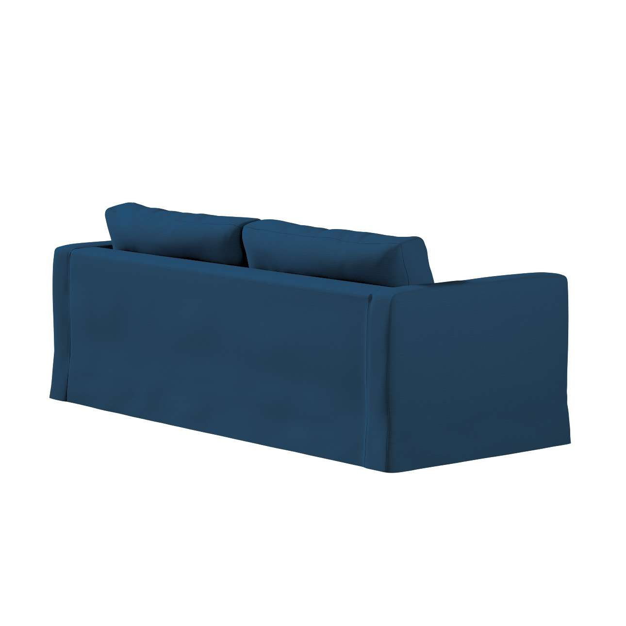 Floor length Karlstad 3-seater sofa cover in collection Panama Cotton, fabric: 702-30