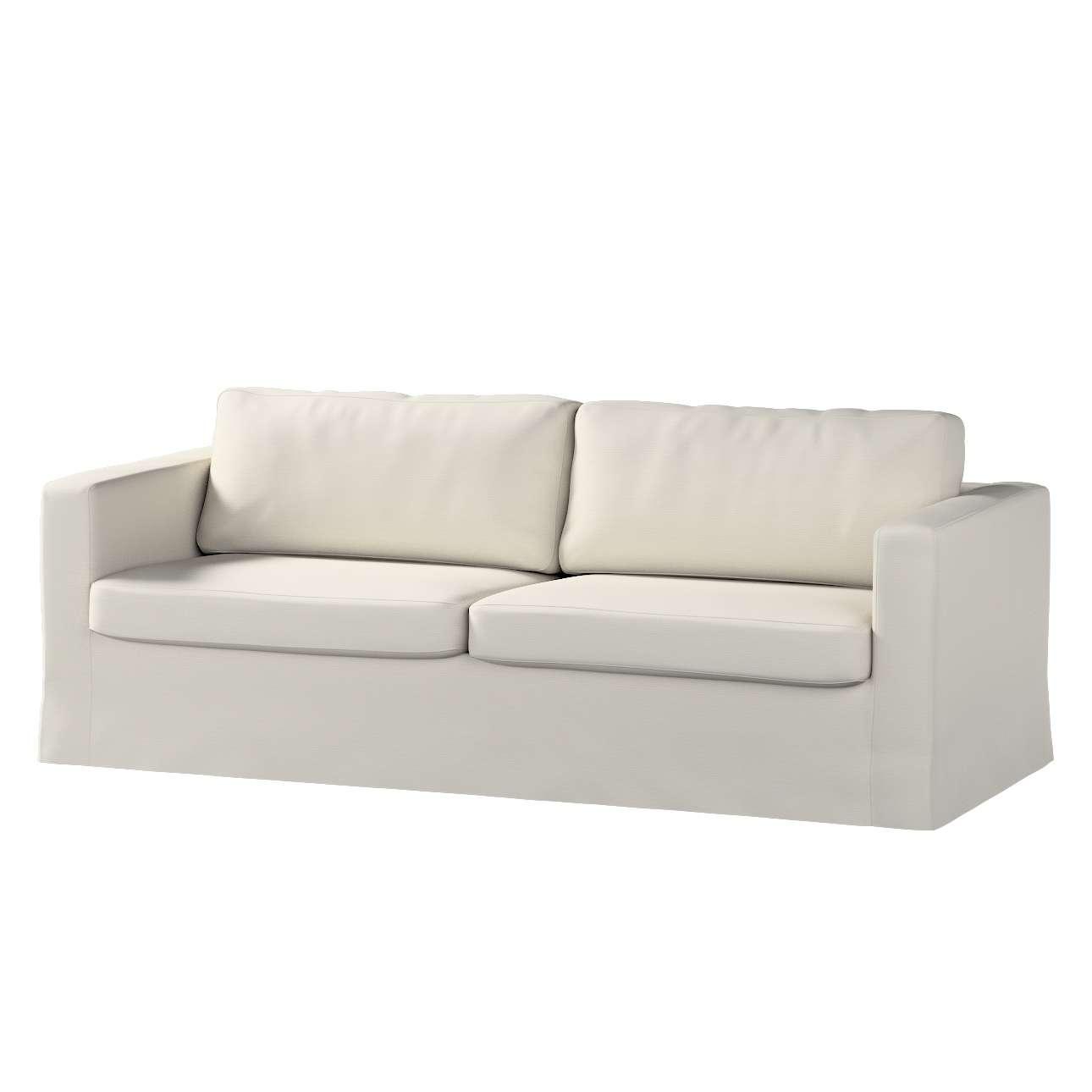 Pokrowiec na sofę Karlstad 3-osobową nierozkładaną, długi Sofa Karlstad 3-osobowa w kolekcji Cotton Panama, tkanina: 702-31