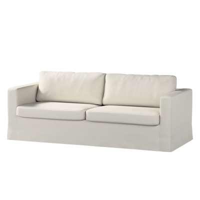 Pokrowiec na sofę Karlstad 3-osobową nierozkładaną, długi w kolekcji Cotton Panama, tkanina: 702-31