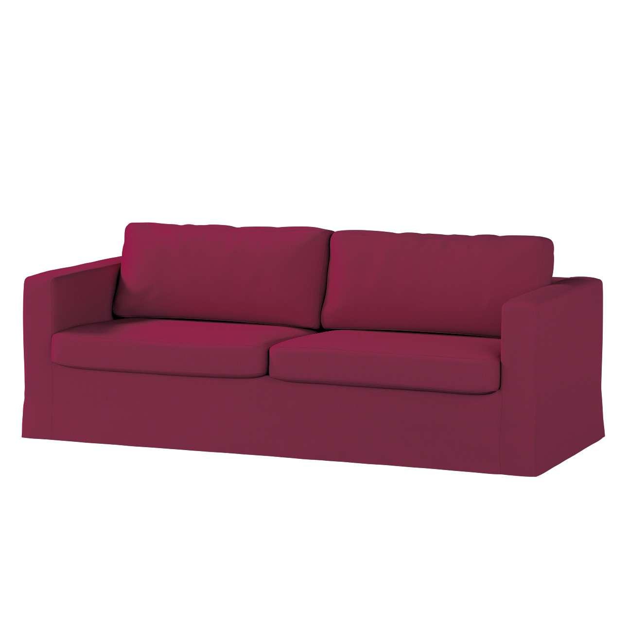 Pokrowiec na sofę Karlstad 3-osobową nierozkładaną, długi Sofa Karlstad 3-osobowa w kolekcji Cotton Panama, tkanina: 702-32