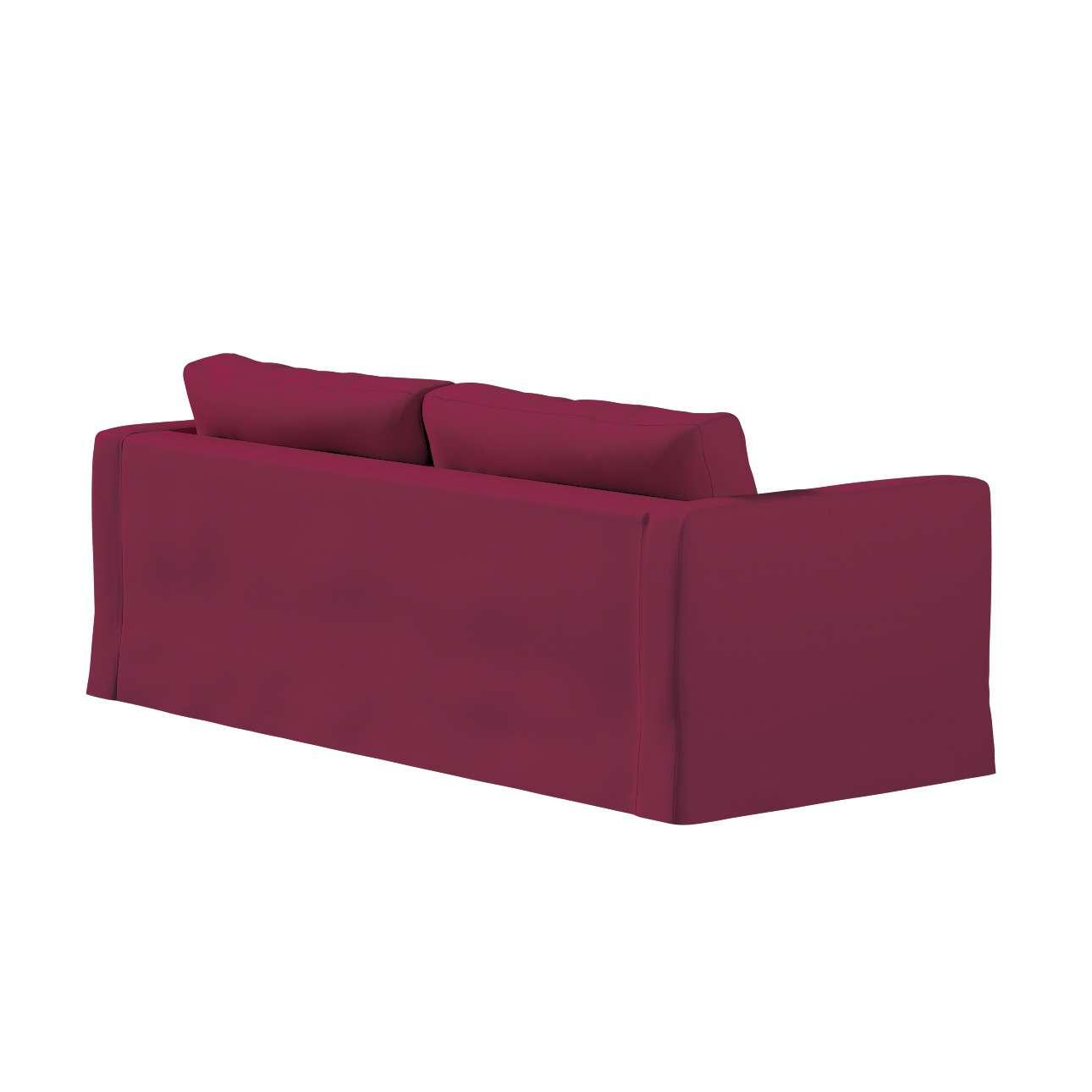 Pokrowiec na sofę Karlstad 3-osobową nierozkładaną, długi w kolekcji Cotton Panama, tkanina: 702-32