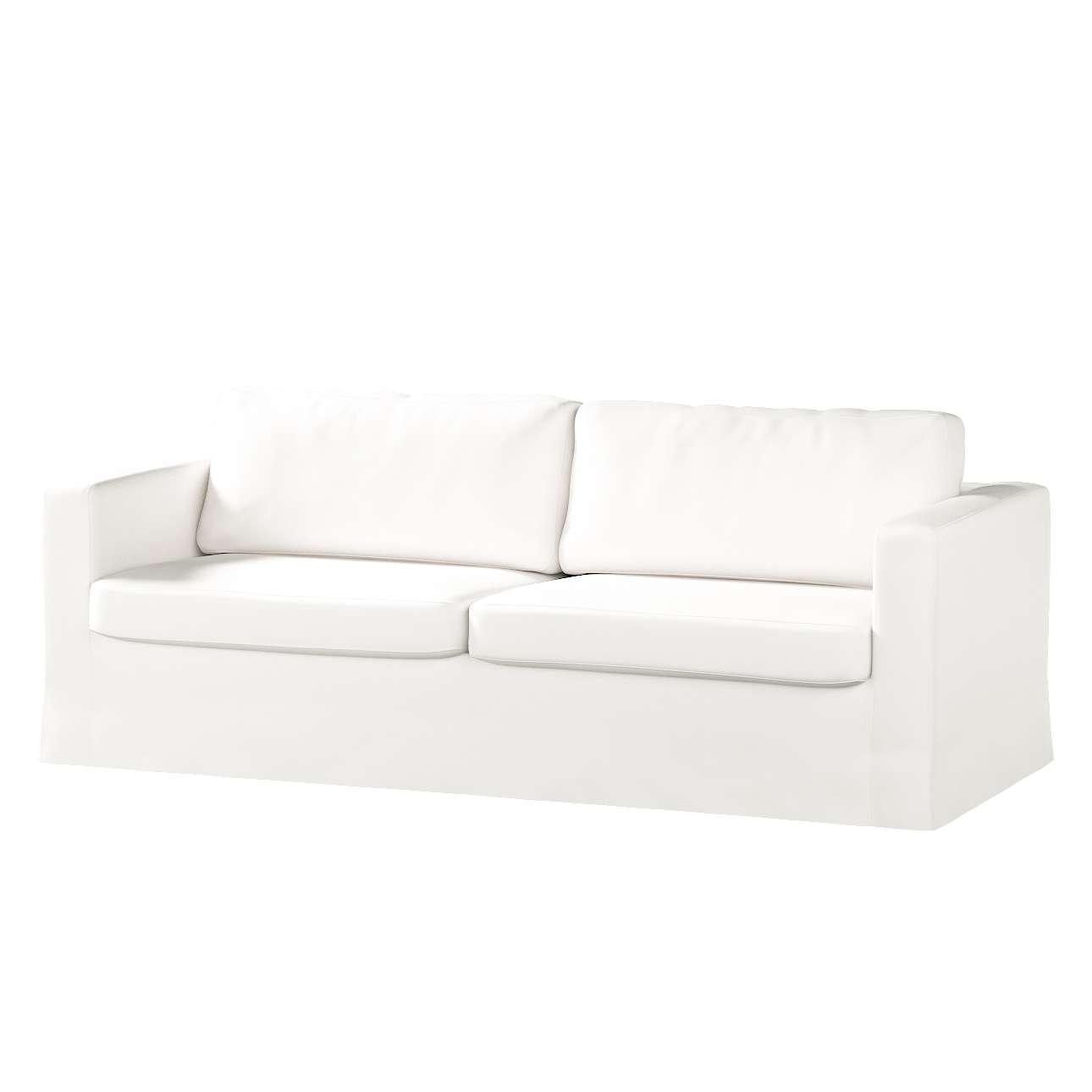 Pokrowiec na sofę Karlstad 3-osobową nierozkładaną, długi Sofa Karlstad 3-osobowa w kolekcji Cotton Panama, tkanina: 702-34