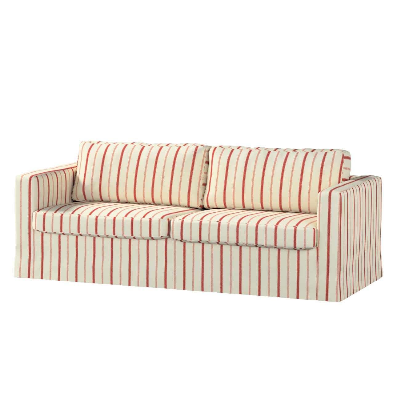 Karlstad 3-Sitzer Sofabezug nicht ausklappbar lang von der Kollektion Avinon, Stoff: 129-15