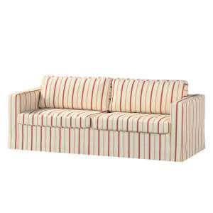 Pokrowiec na sofę Karlstad 3-osobową nierozkładaną, długi Sofa Karlstad 3-osobowa w kolekcji Avinon, tkanina: 129-15