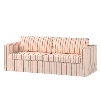 Floor length Karlstad 3-seater sofa cover in collection Avinon, fabric: 129-15