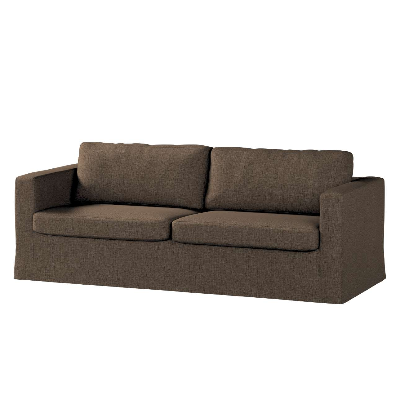Floor length Karlstad 3-seater sofa cover in collection Living, fabric: 106-92