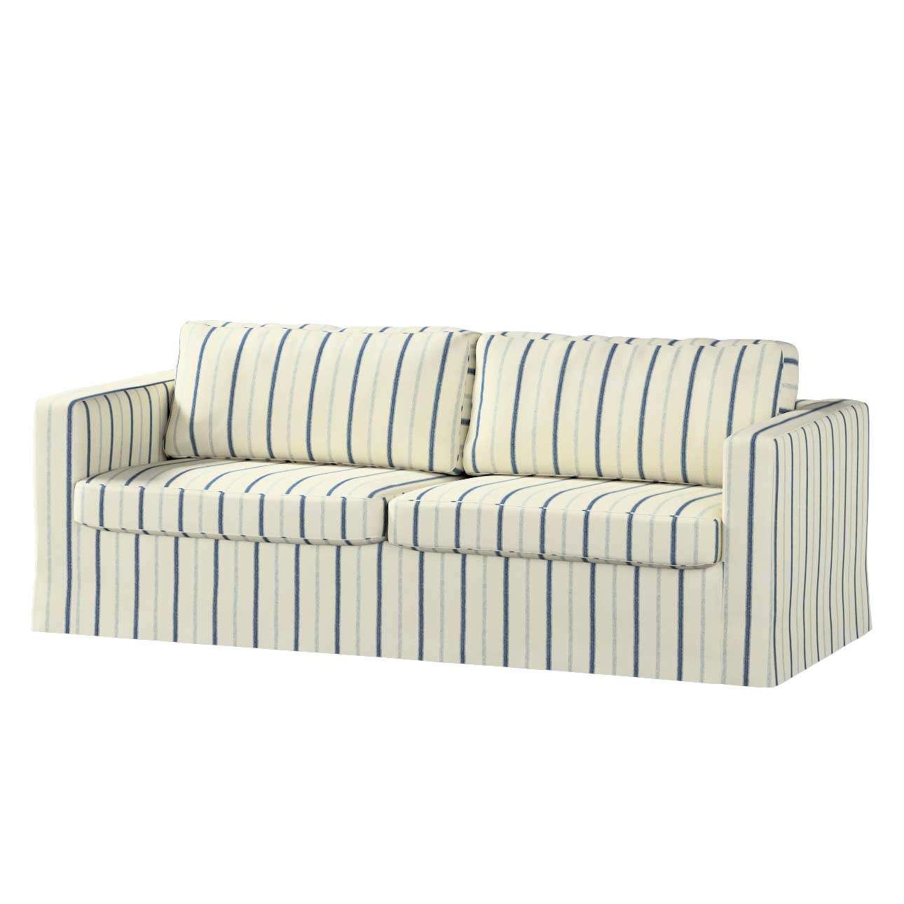Pokrowiec na sofę Karlstad 3-osobową nierozkładaną, długi Sofa Karlstad 3-osobowa w kolekcji Avinon, tkanina: 129-66
