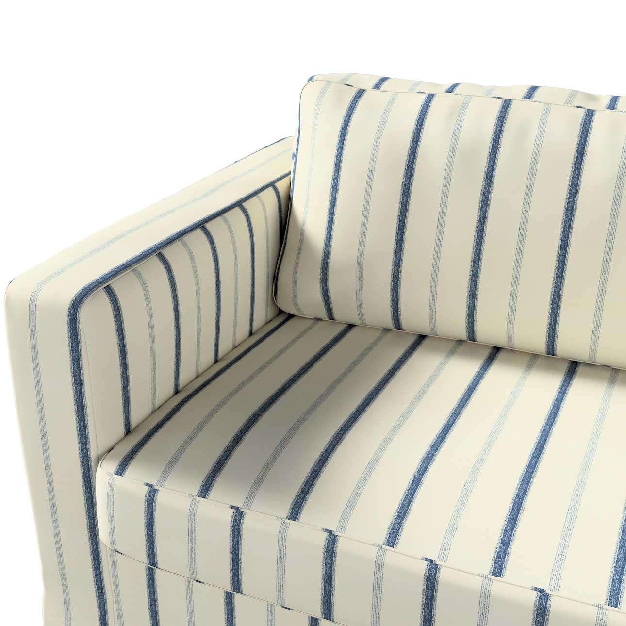 Pokrowiec na sofę Karlstad 3-osobową nierozkładaną, długi w kolekcji Avinon, tkanina: 129-66
