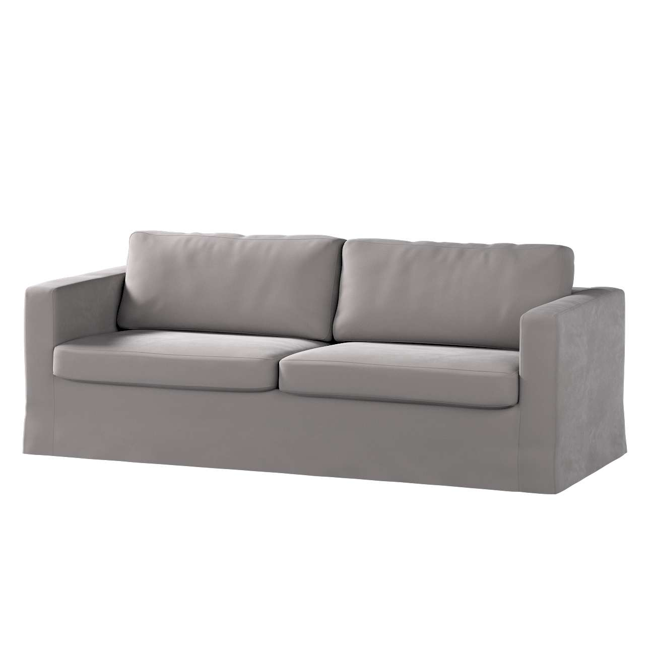 Pokrowiec na sofę Karlstad 3-osobową nierozkładaną, długi w kolekcji Velvet, tkanina: 704-11