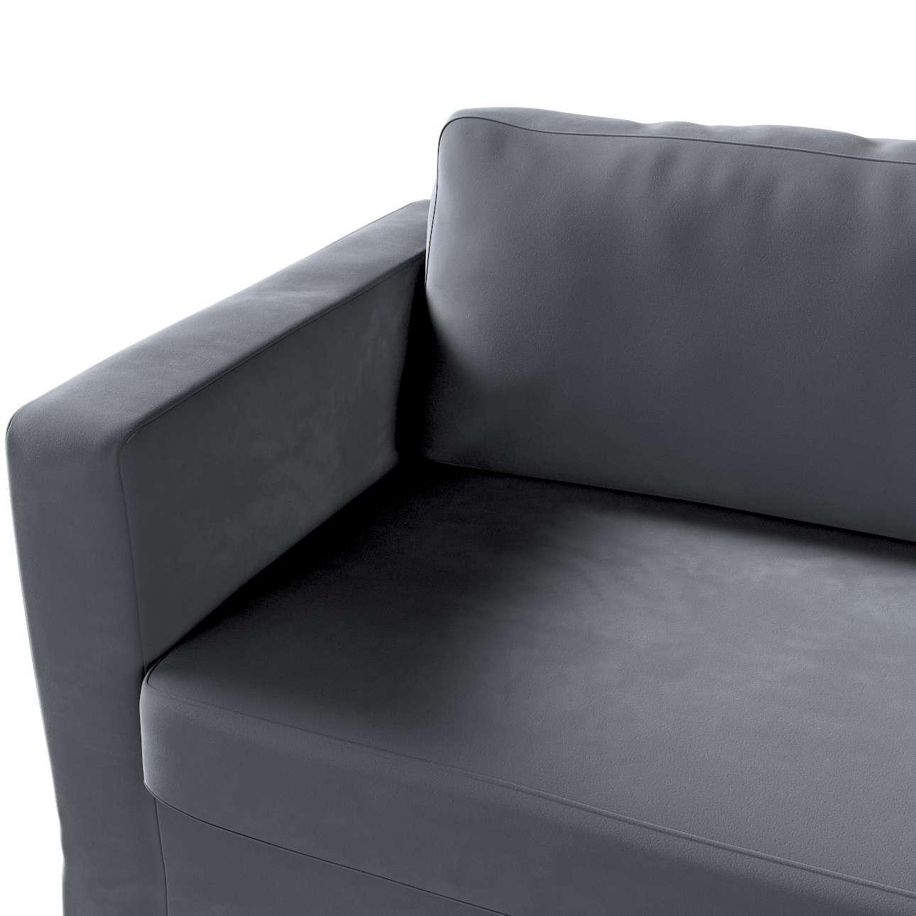 Pokrowiec na sofę Karlstad 3-osobową nierozkładaną, długi w kolekcji Velvet, tkanina: 704-12