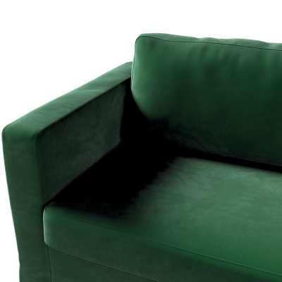 Pokrowiec na sofę Karlstad 3-osobową nierozkładaną, długi w kolekcji Velvet, tkanina: 704-13
