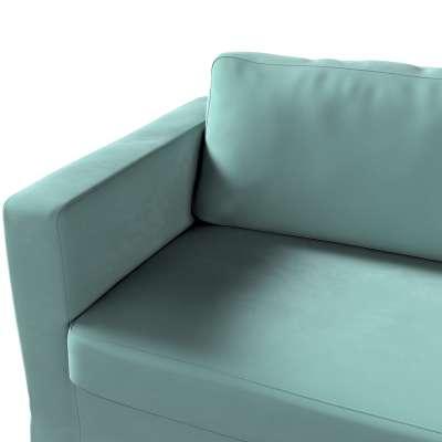 Pokrowiec na sofę Karlstad 3-osobową nierozkładaną, długi w kolekcji Velvet, tkanina: 704-18