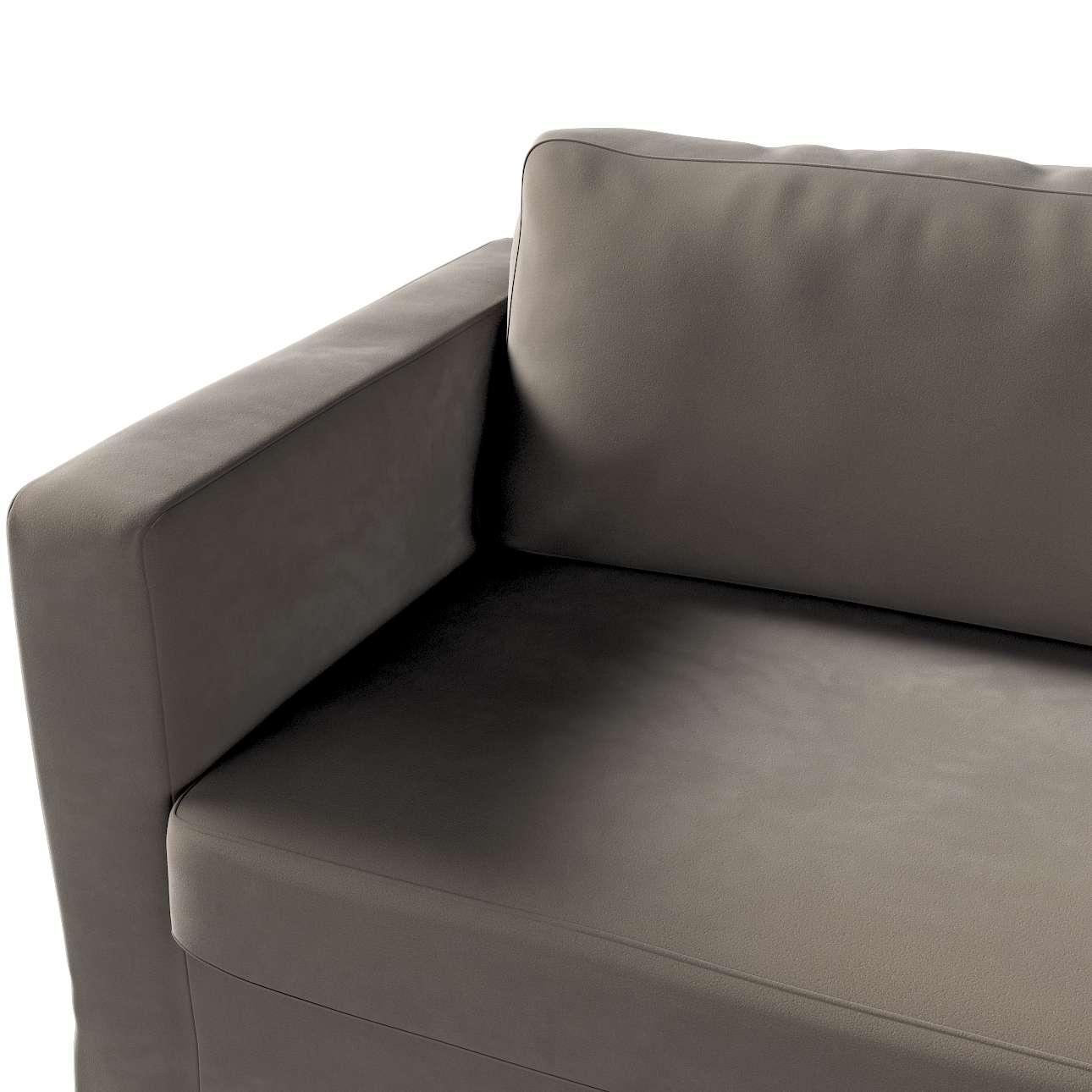 Pokrowiec na sofę Karlstad 3-osobową nierozkładaną, długi w kolekcji Velvet, tkanina: 704-19