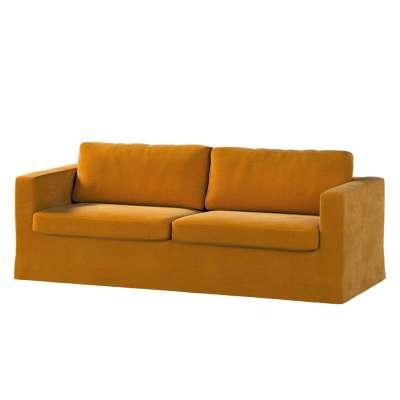 Potah na pohovku IKEA  Karlstad 3-místná, nerozkládací, dlouhý v kolekci Velvet, látka: 704-23