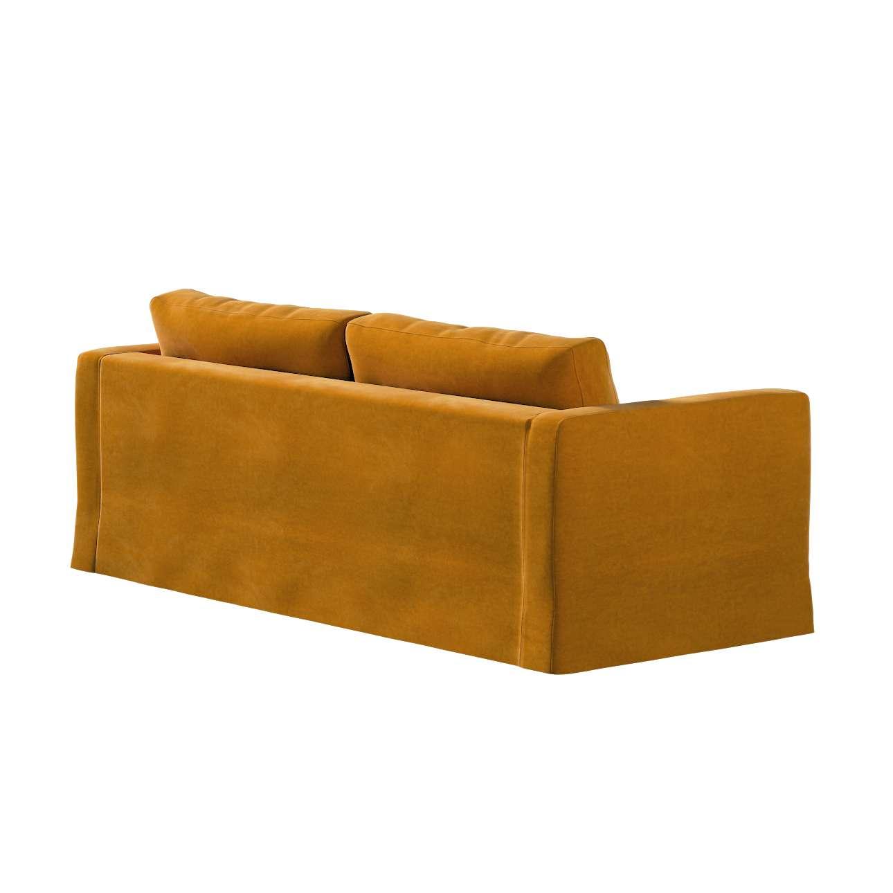 Pokrowiec na sofę Karlstad 3-osobową nierozkładaną, długi w kolekcji Velvet, tkanina: 704-23