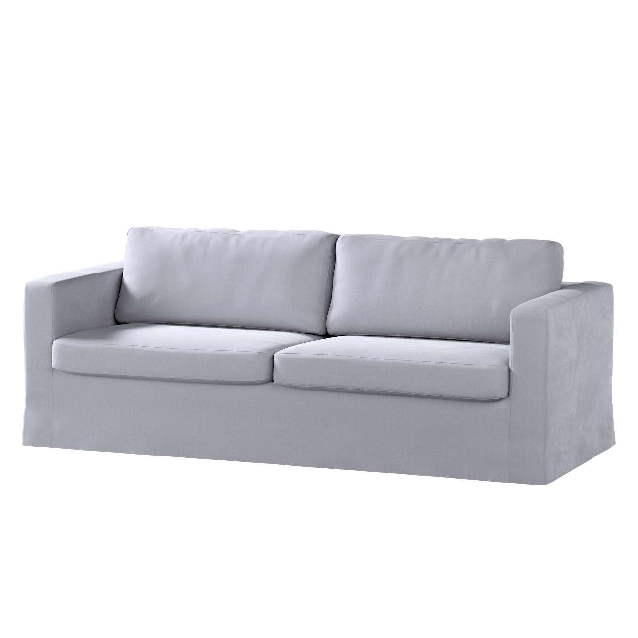 Pokrowiec na sofę Karlstad 3-osobową nierozkładaną, długi w kolekcji Velvet, tkanina: 704-24