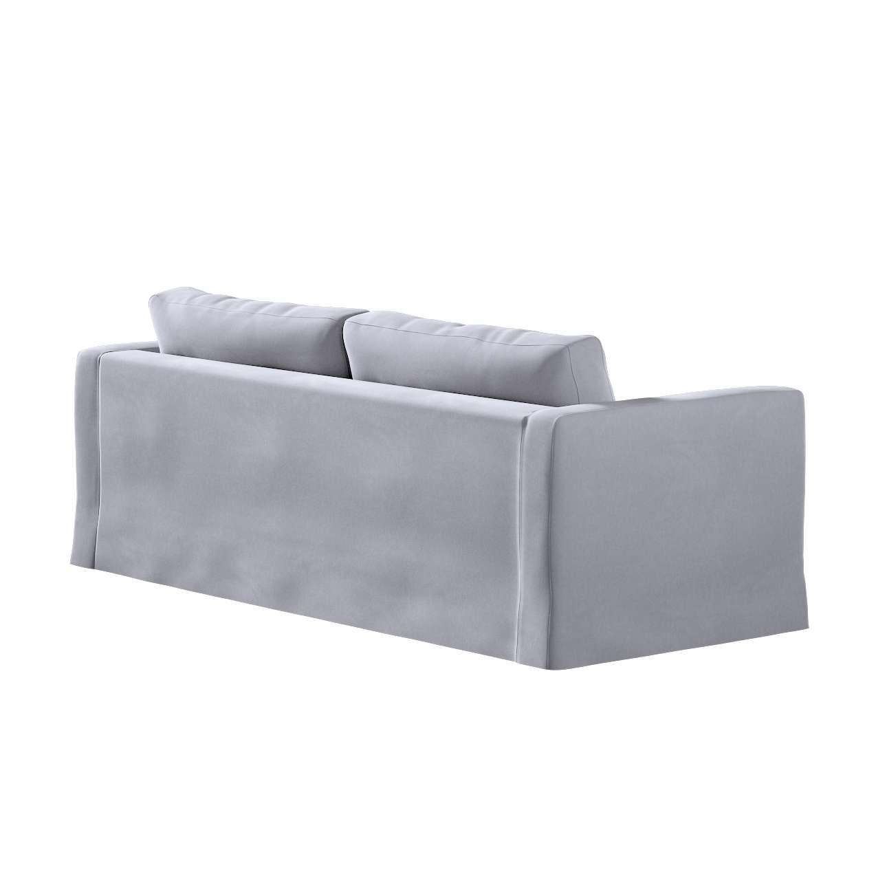 Floor length Karlstad 3-seater sofa cover in collection Velvet, fabric: 704-24