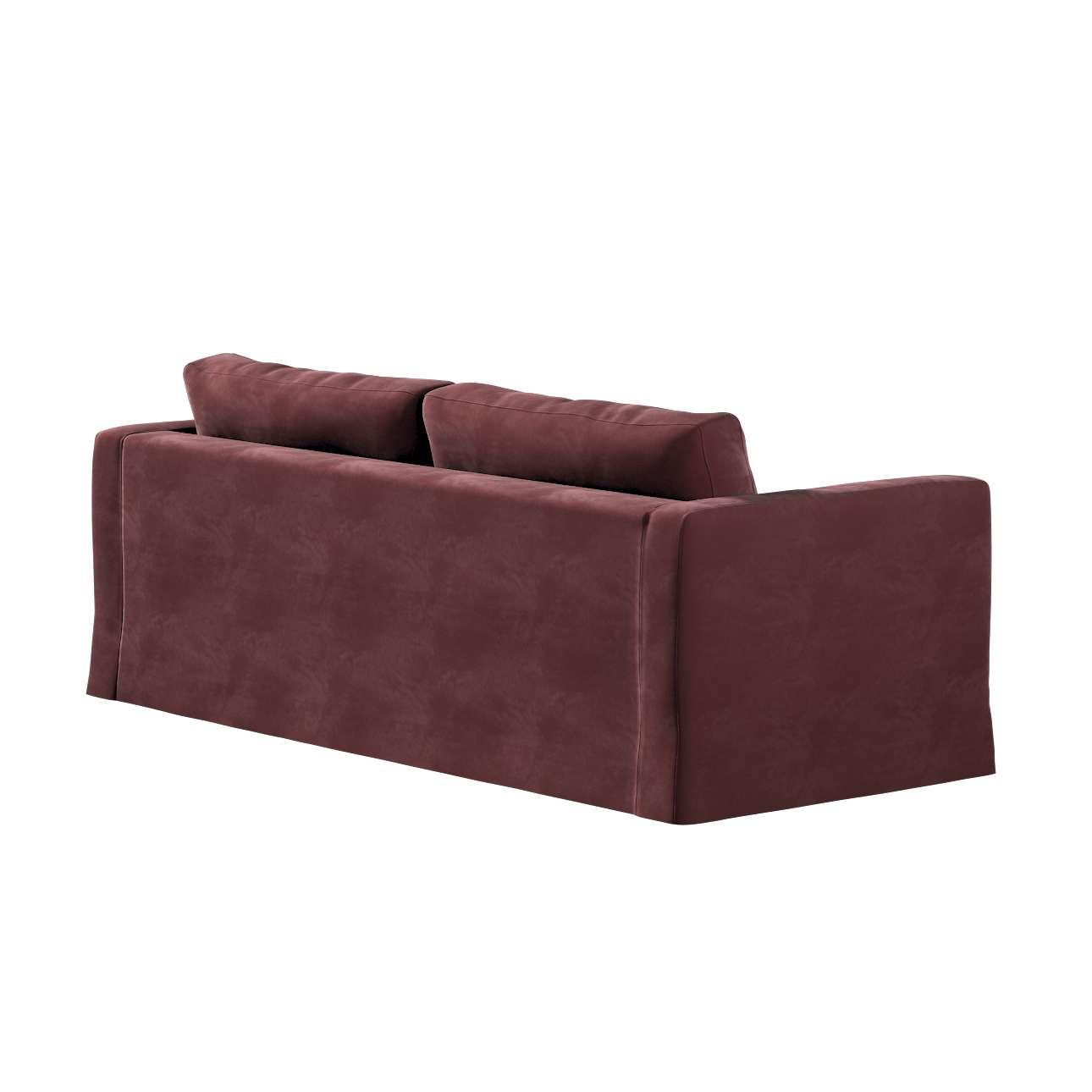 Pokrowiec na sofę Karlstad 3-osobową nierozkładaną, długi w kolekcji Velvet, tkanina: 704-26