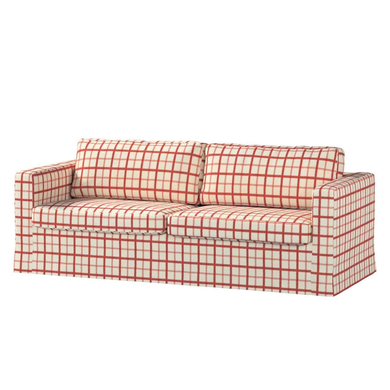 Pokrowiec na sofę Karlstad 3-osobową nierozkładaną, długi Sofa Karlstad 3-osobowa w kolekcji Avinon, tkanina: 131-15
