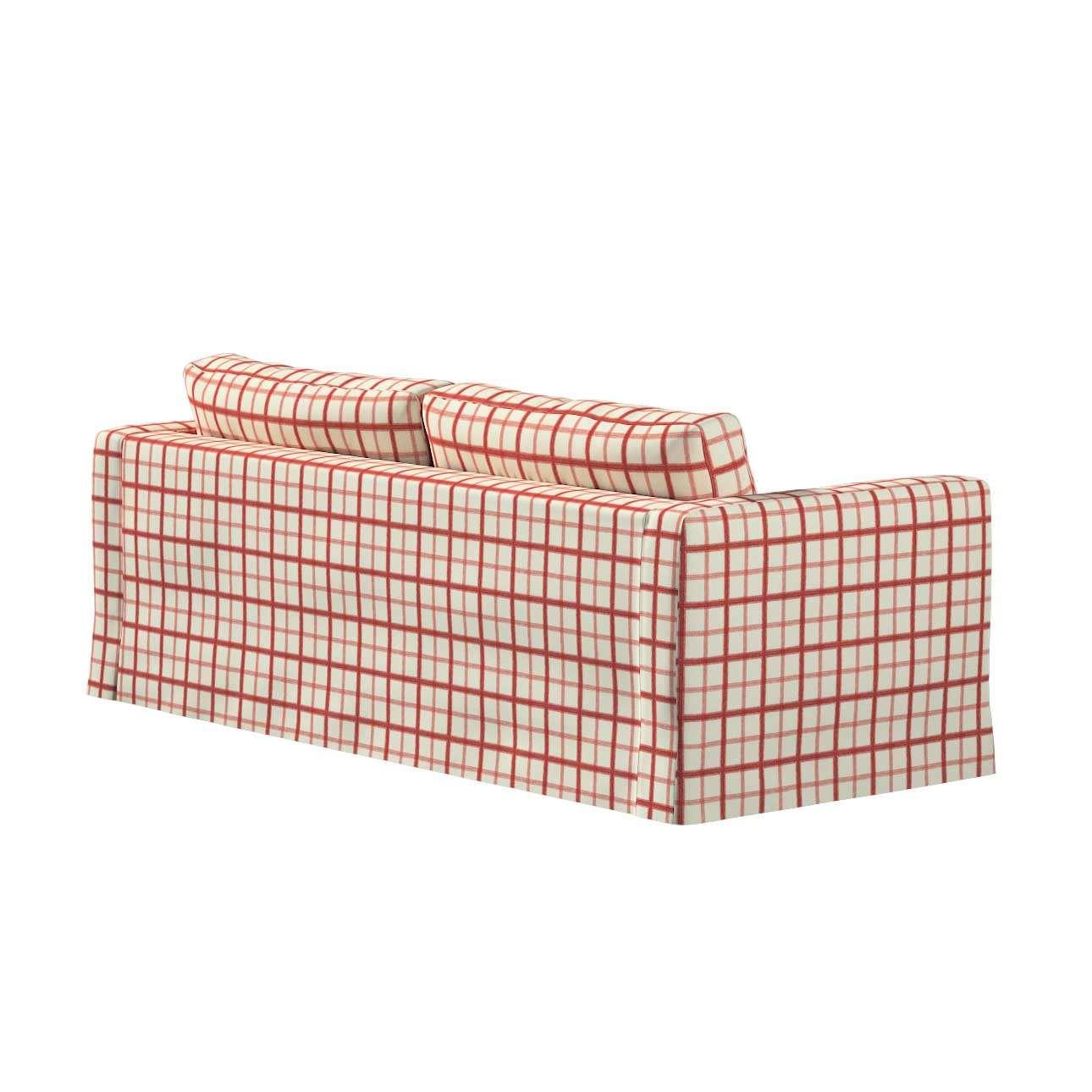 Pokrowiec na sofę Karlstad 3-osobową nierozkładaną, długi w kolekcji Avinon, tkanina: 131-15