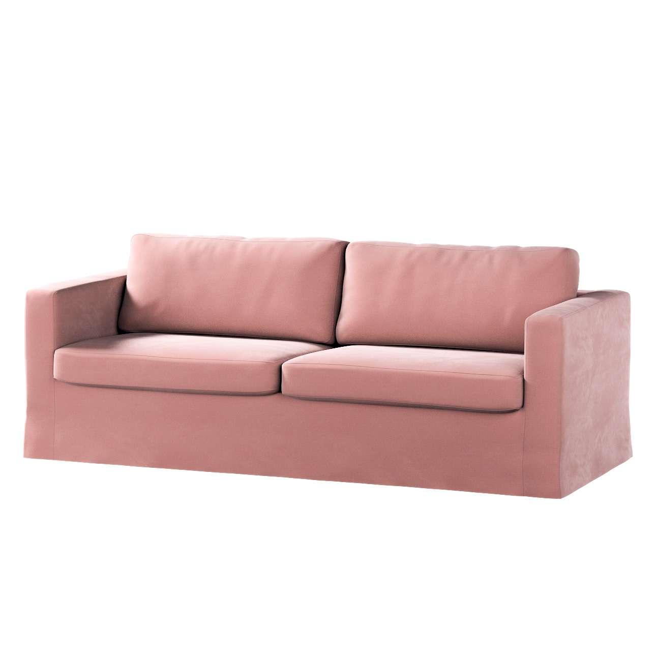 Pokrowiec na sofę Karlstad 3-osobową nierozkładaną, długi w kolekcji Velvet, tkanina: 704-30