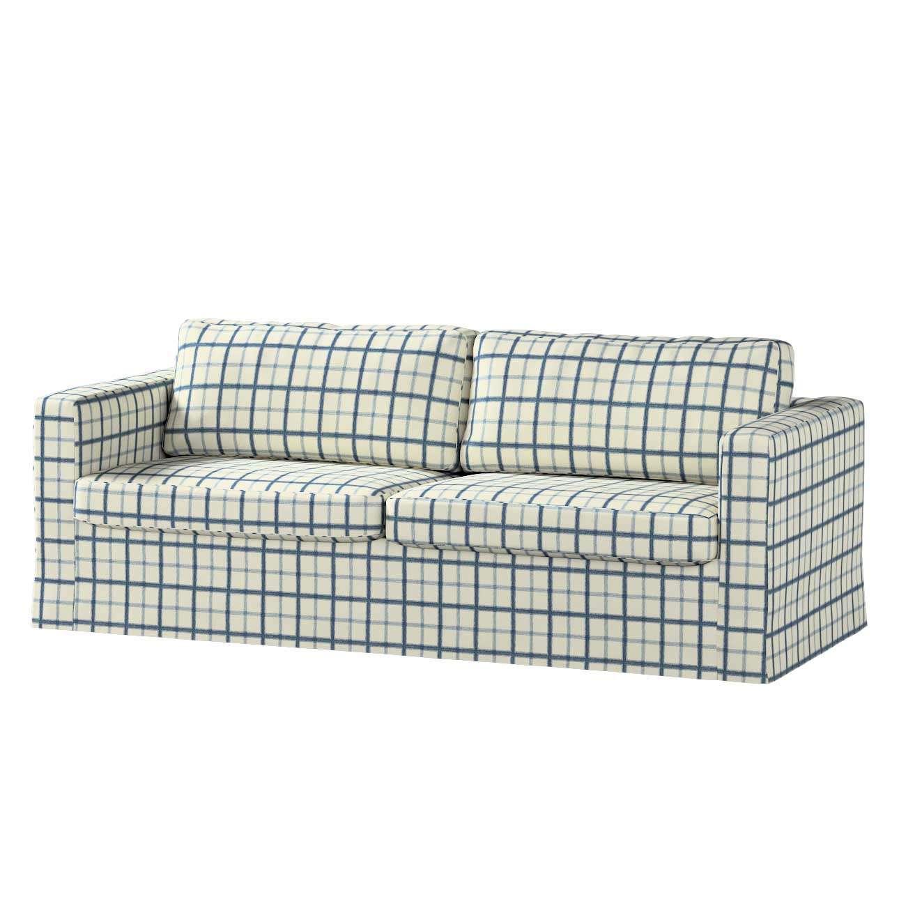 Pokrowiec na sofę Karlstad 3-osobową nierozkładaną, długi Sofa Karlstad 3-osobowa w kolekcji Avinon, tkanina: 131-66