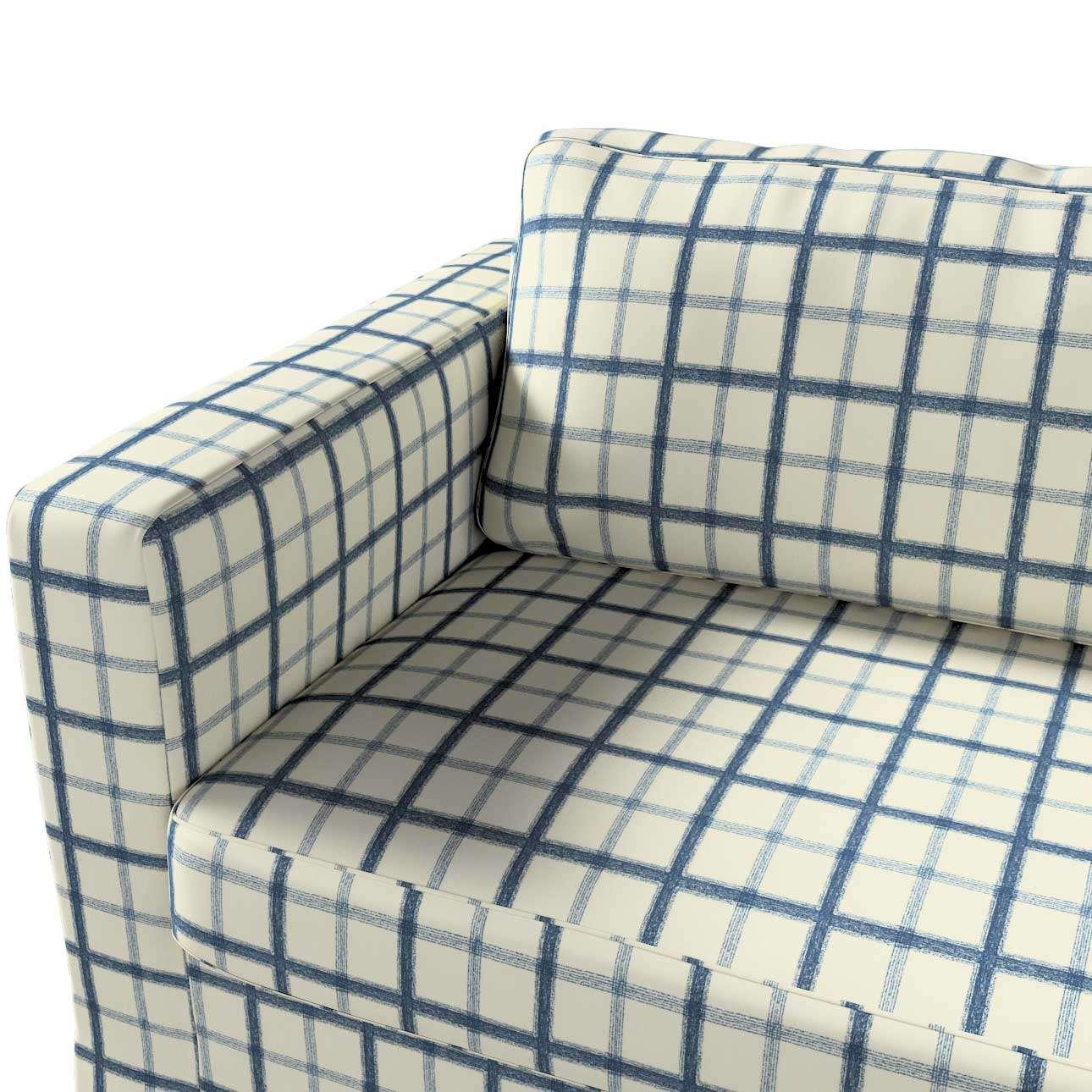 Pokrowiec na sofę Karlstad 3-osobową nierozkładaną, długi w kolekcji Avinon, tkanina: 131-66