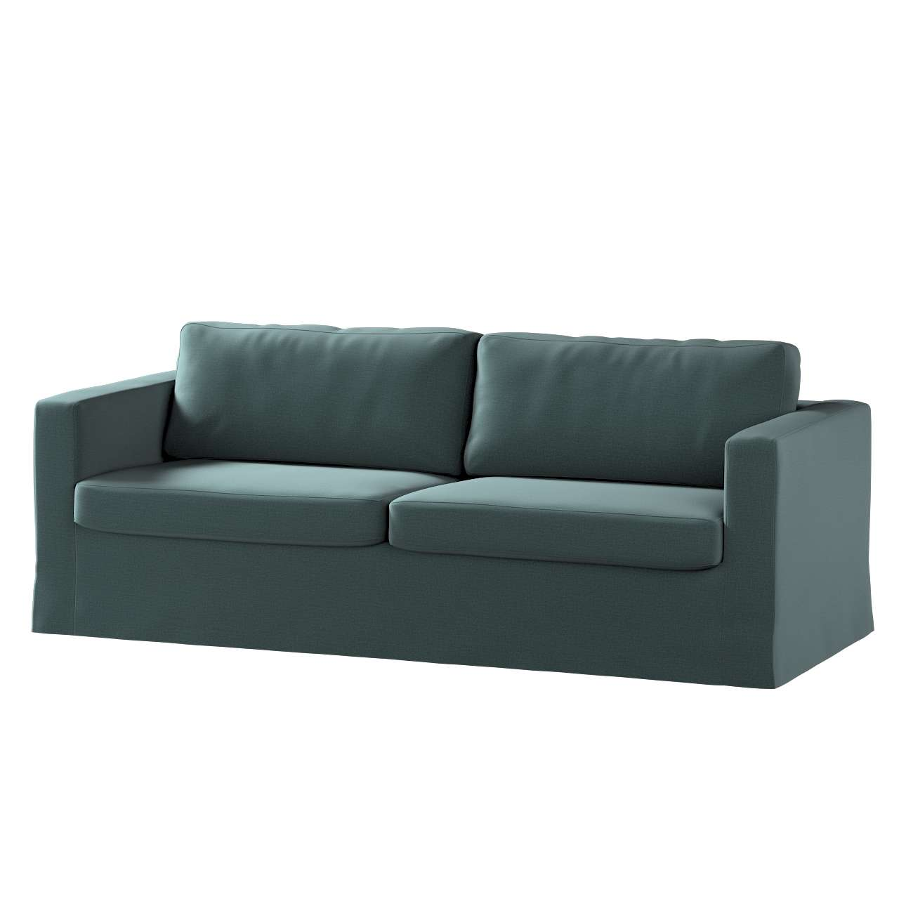 Pokrowiec na sofę Karlstad 3-osobową nierozkładaną, długi w kolekcji Ingrid, tkanina: 705-36