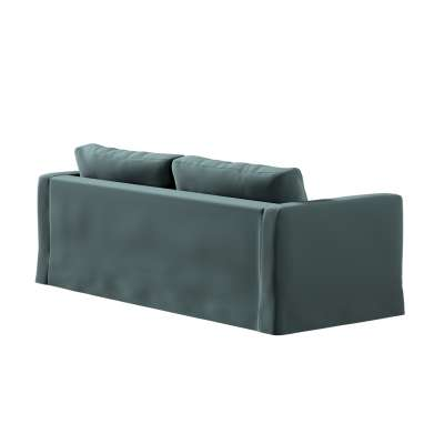 Floor length Karlstad 3-seater sofa cover 705-36 emerald Collection Ingrid