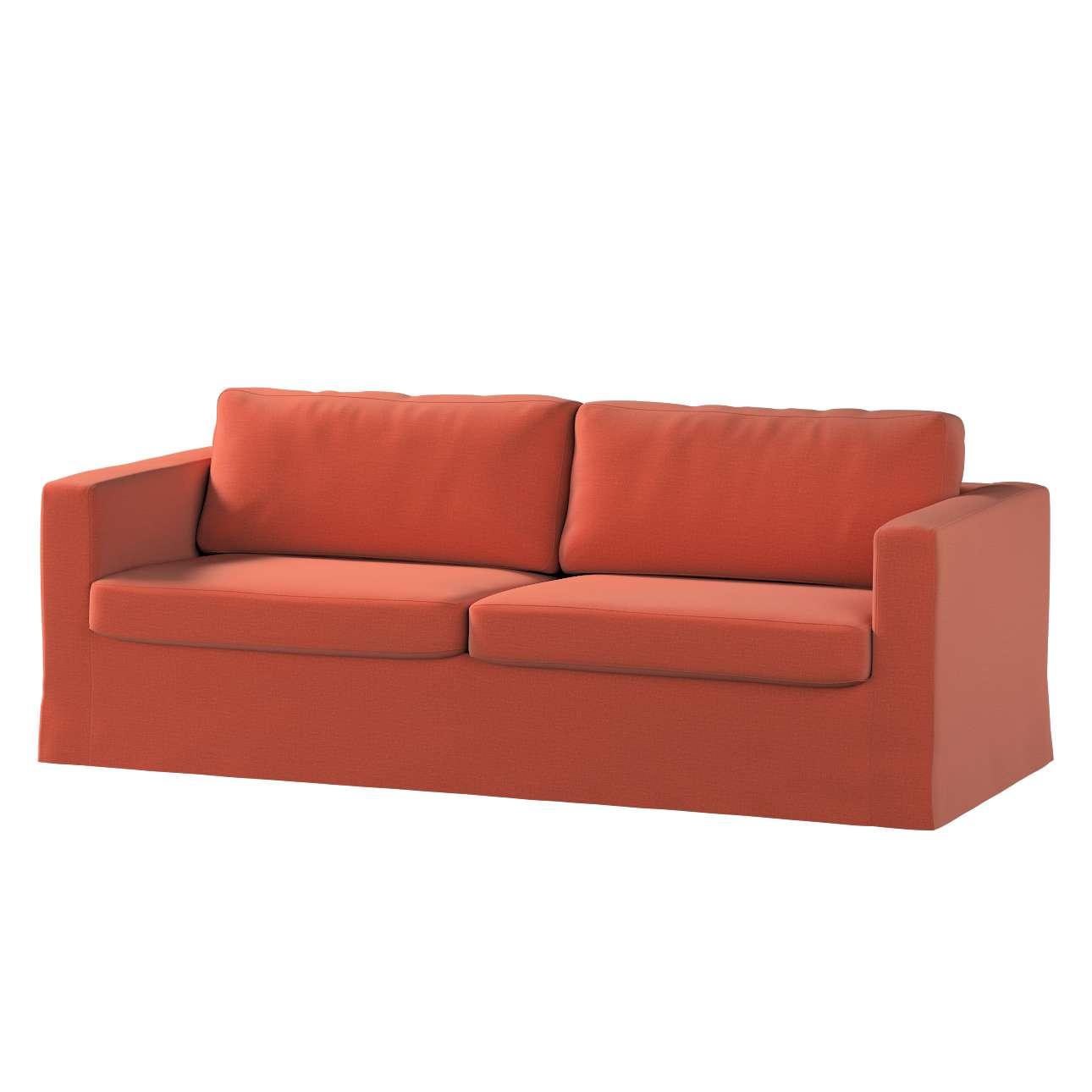 Pokrowiec na sofę Karlstad 3-osobową nierozkładaną, długi w kolekcji Ingrid, tkanina: 705-37