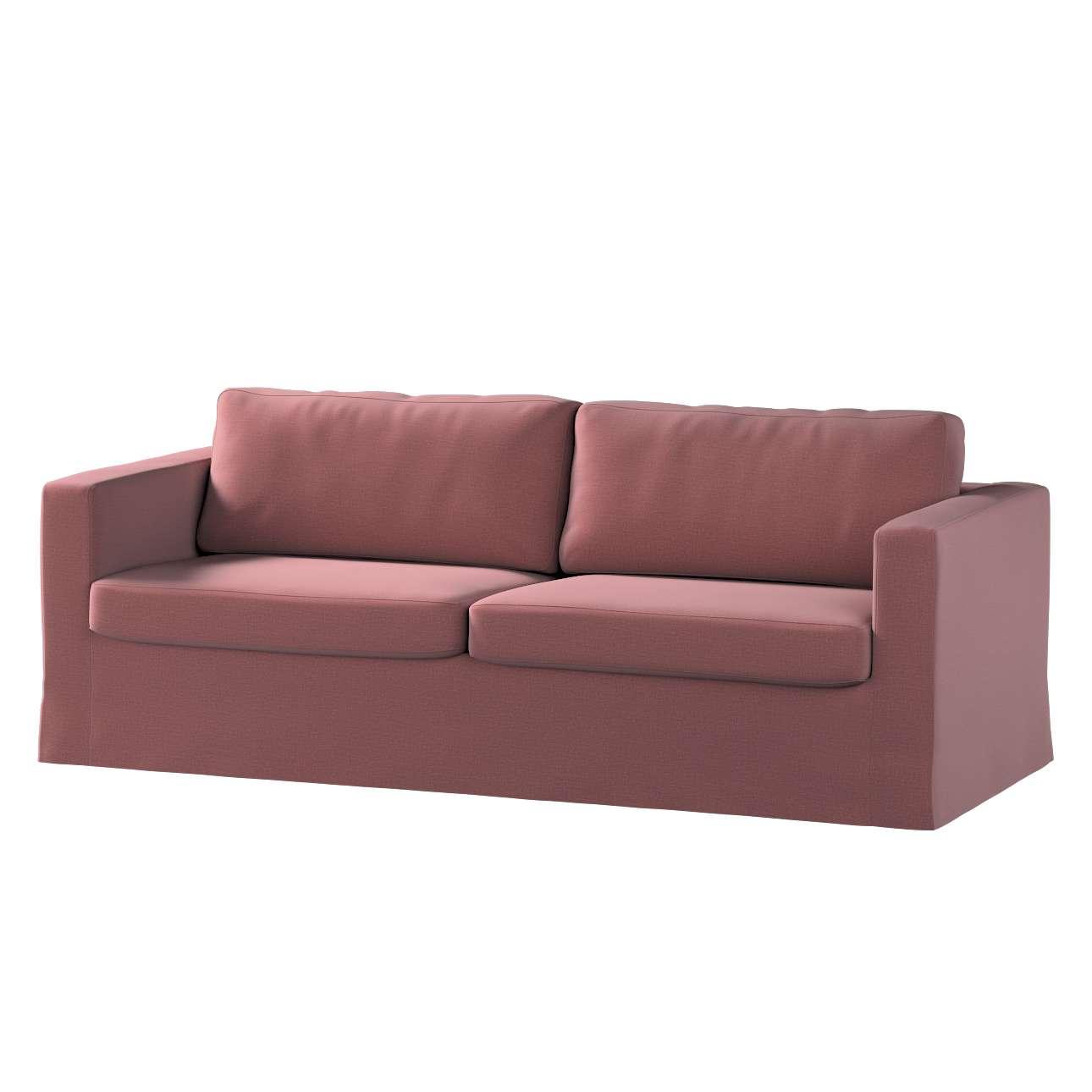 Pokrowiec na sofę Karlstad 3-osobową nierozkładaną, długi w kolekcji Ingrid, tkanina: 705-38