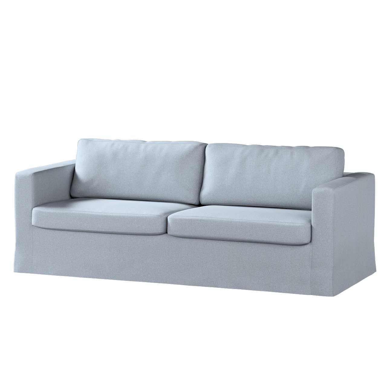 Potah na pohovku IKEA  Karlstad 3-místná, nerozkládací, dlouhý v kolekci Amsterdam, látka: 704-46
