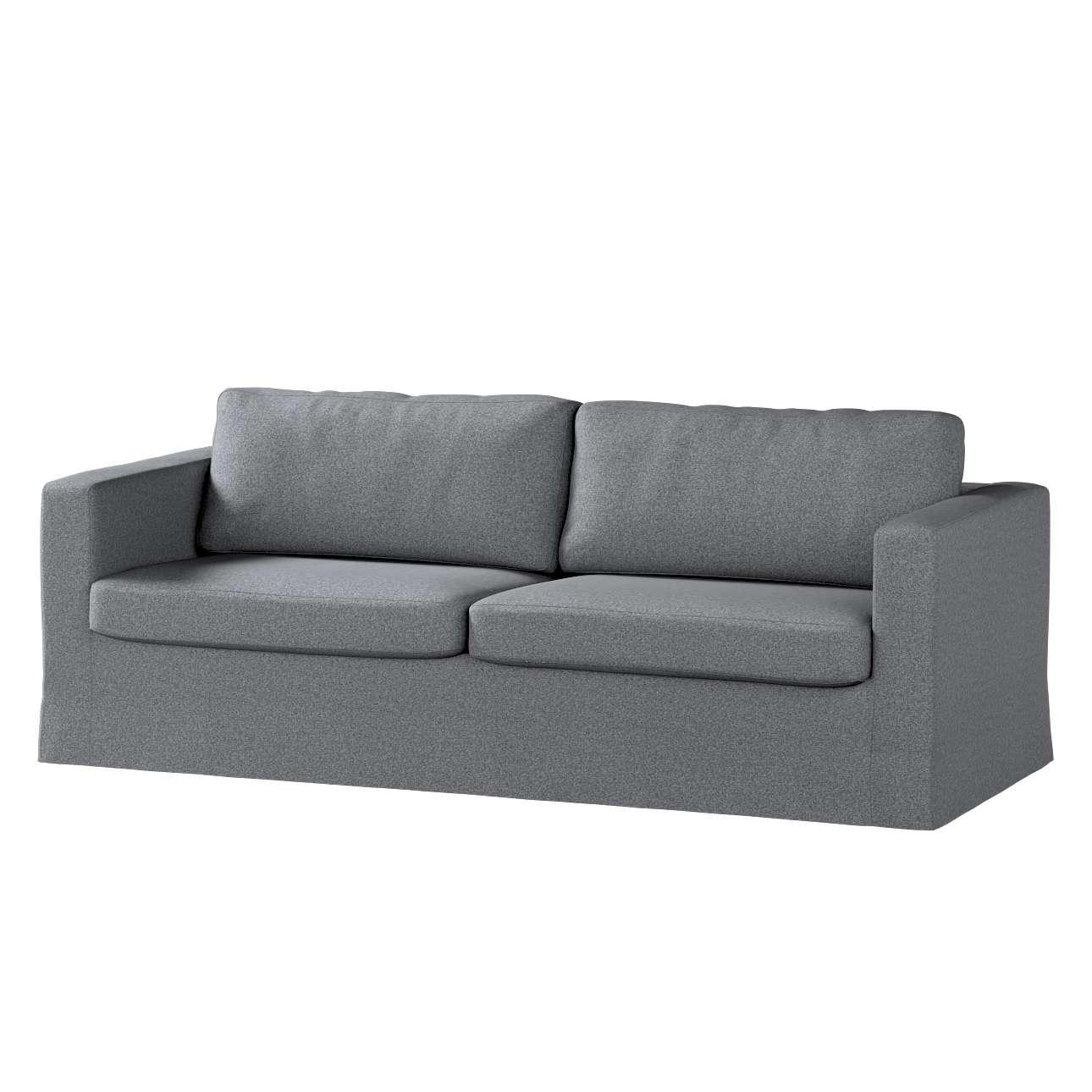Pokrowiec na sofę Karlstad 3-osobową nierozkładaną, długi w kolekcji Amsterdam, tkanina: 704-47