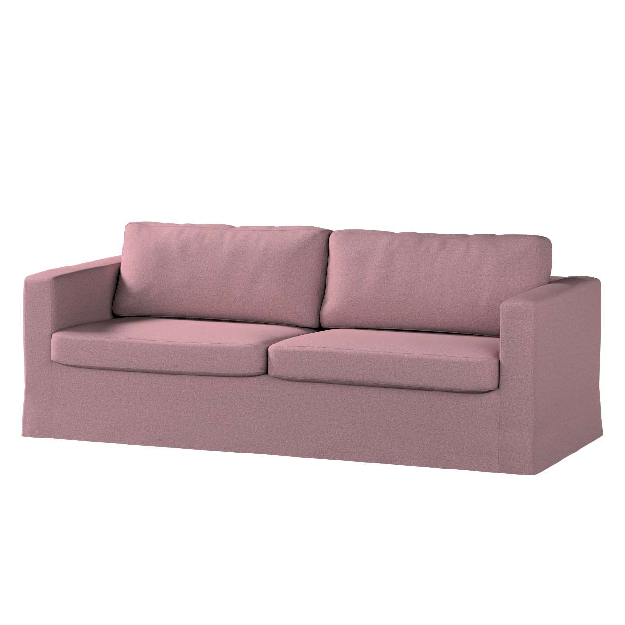 Pokrowiec na sofę Karlstad 3-osobową nierozkładaną, długi w kolekcji Amsterdam, tkanina: 704-48
