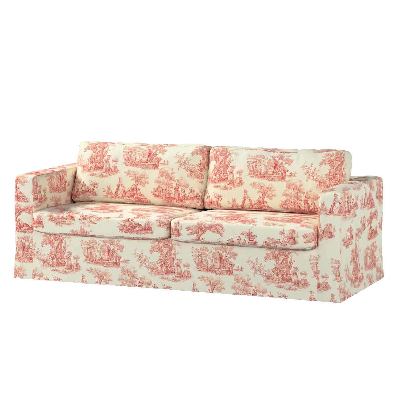 Pokrowiec na sofę Karlstad 3-osobową nierozkładaną, długi Sofa Karlstad 3-osobowa w kolekcji Avinon, tkanina: 132-15