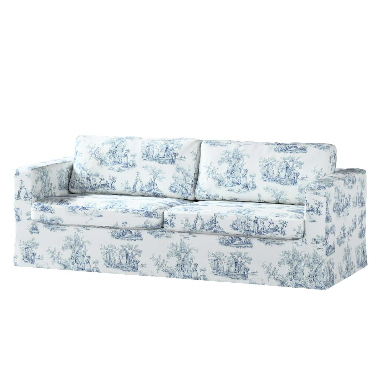 Karlstad trivietės sofos užvalkalas (ilgas, iki žemės) Karlstad trivietės sofos užvalkalas (ilgas, iki žemės) kolekcijoje Avinon, audinys: 132-66