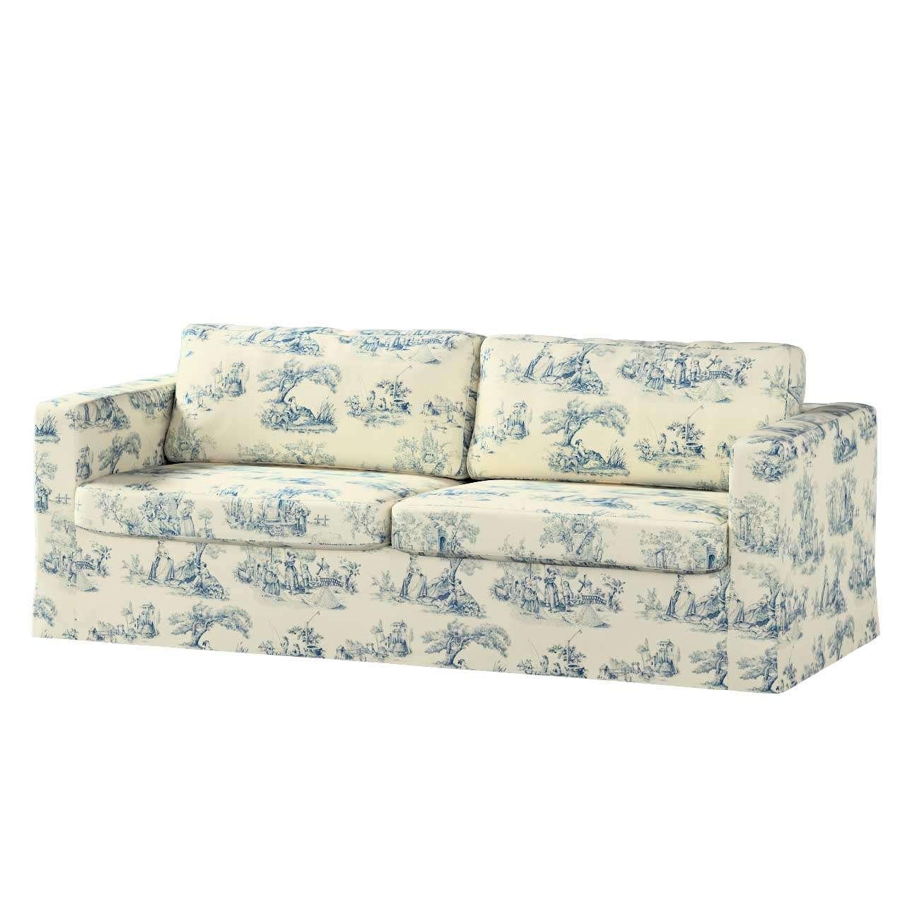 Karlstad 3-Sitzer Sofabezug nicht ausklappbar lang Sofahusse, Karlstad 3-Sitzer von der Kollektion Avinon, Stoff: 132-66