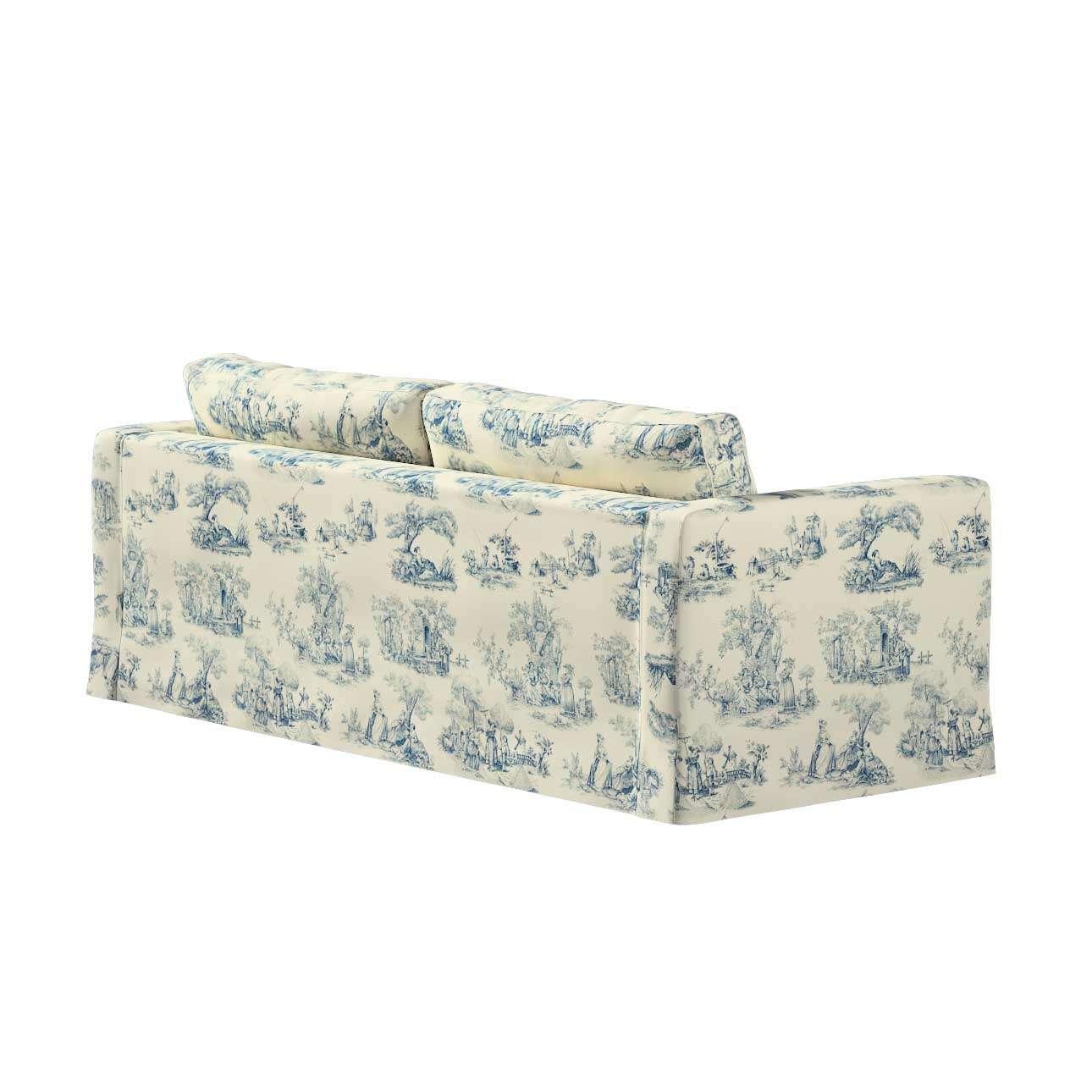 Pokrowiec na sofę Karlstad 3-osobową nierozkładaną, długi w kolekcji Avinon, tkanina: 132-66