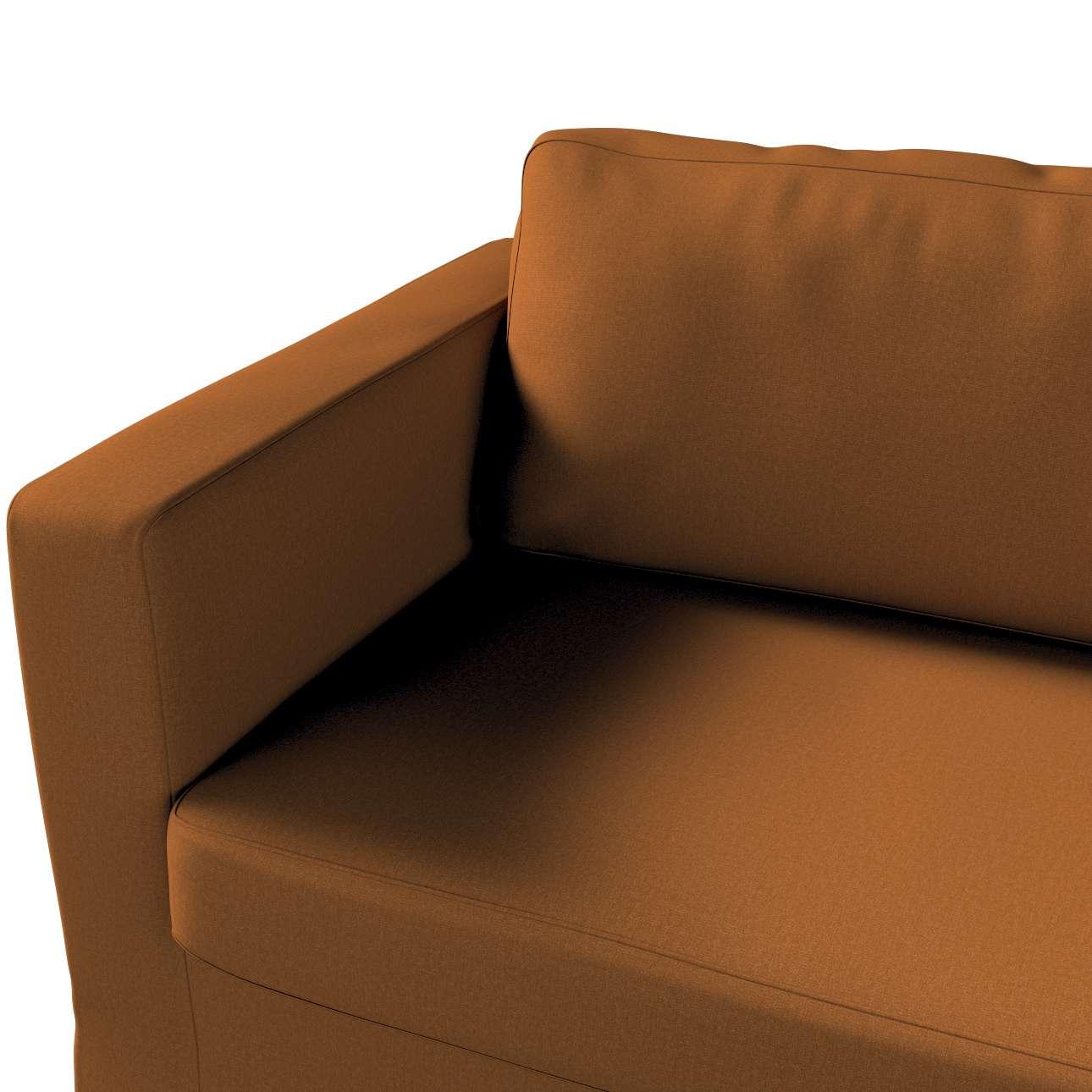 Pokrowiec na sofę Karlstad 3-osobową nierozkładaną, długi w kolekcji Living, tkanina: 161-28