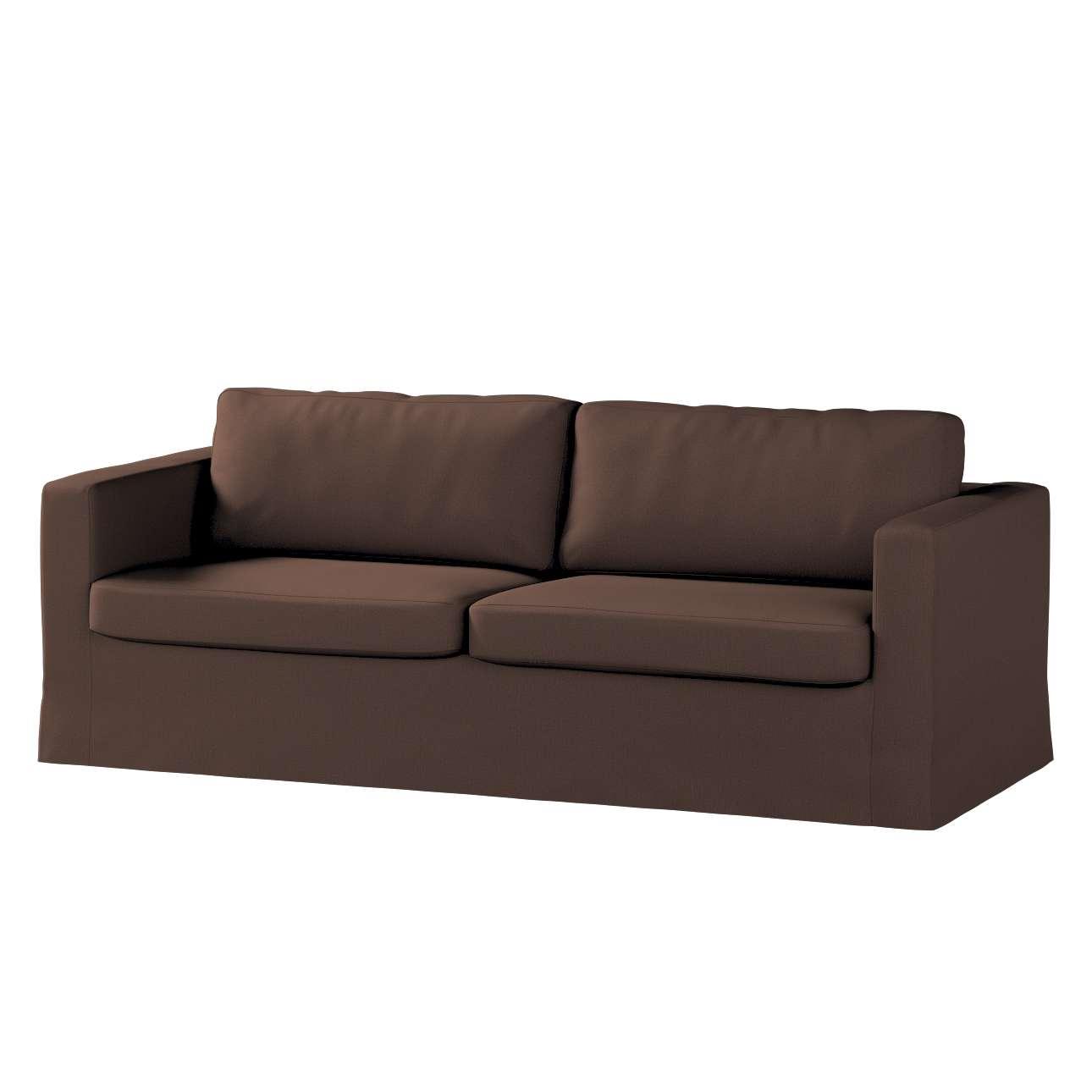 Pokrowiec na sofę Karlstad 3-osobową nierozkładaną, długi w kolekcji Bergen, tkanina: 161-73