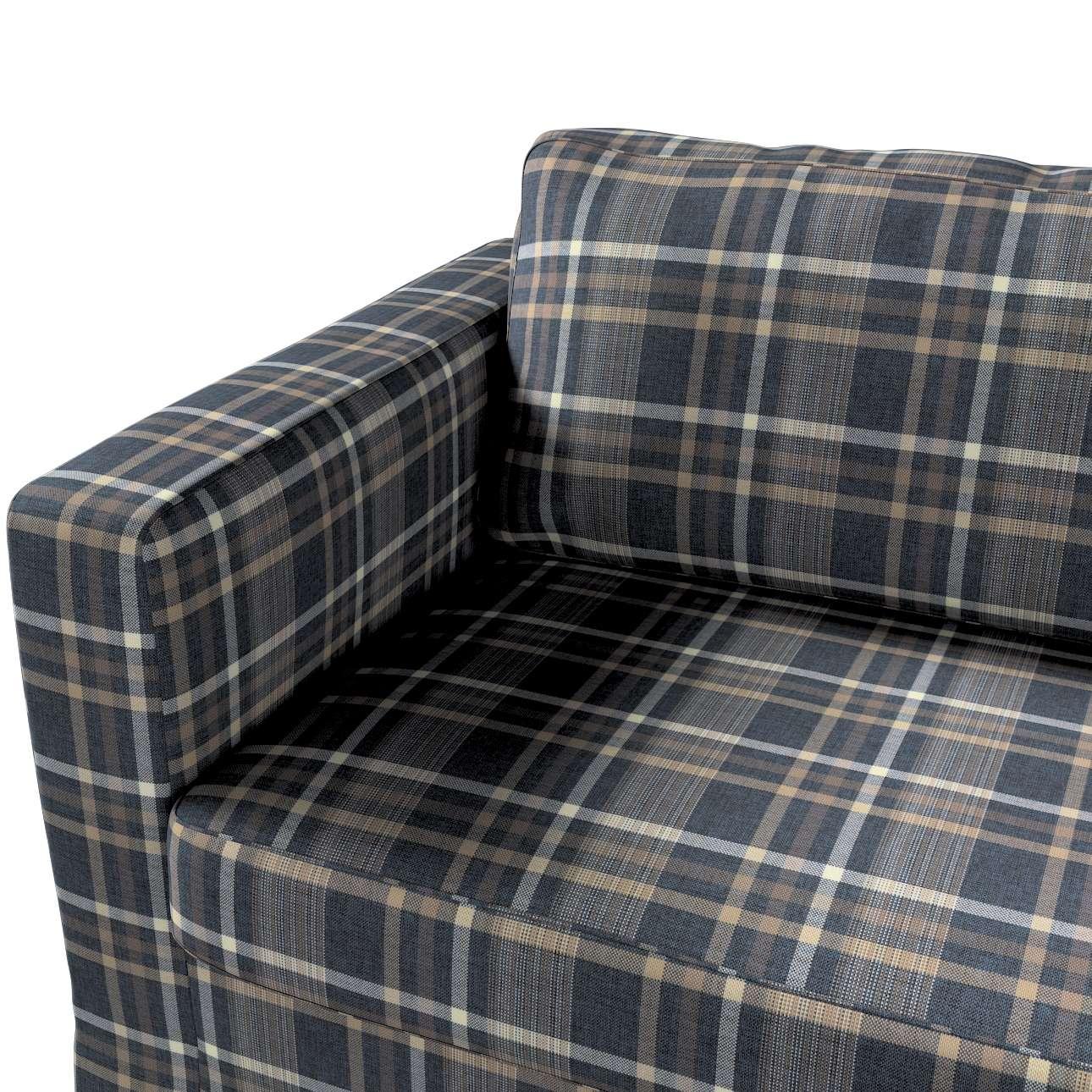 Pokrowiec na sofę Karlstad 3-osobową nierozkładaną, długi w kolekcji Edinburgh, tkanina: 703-16